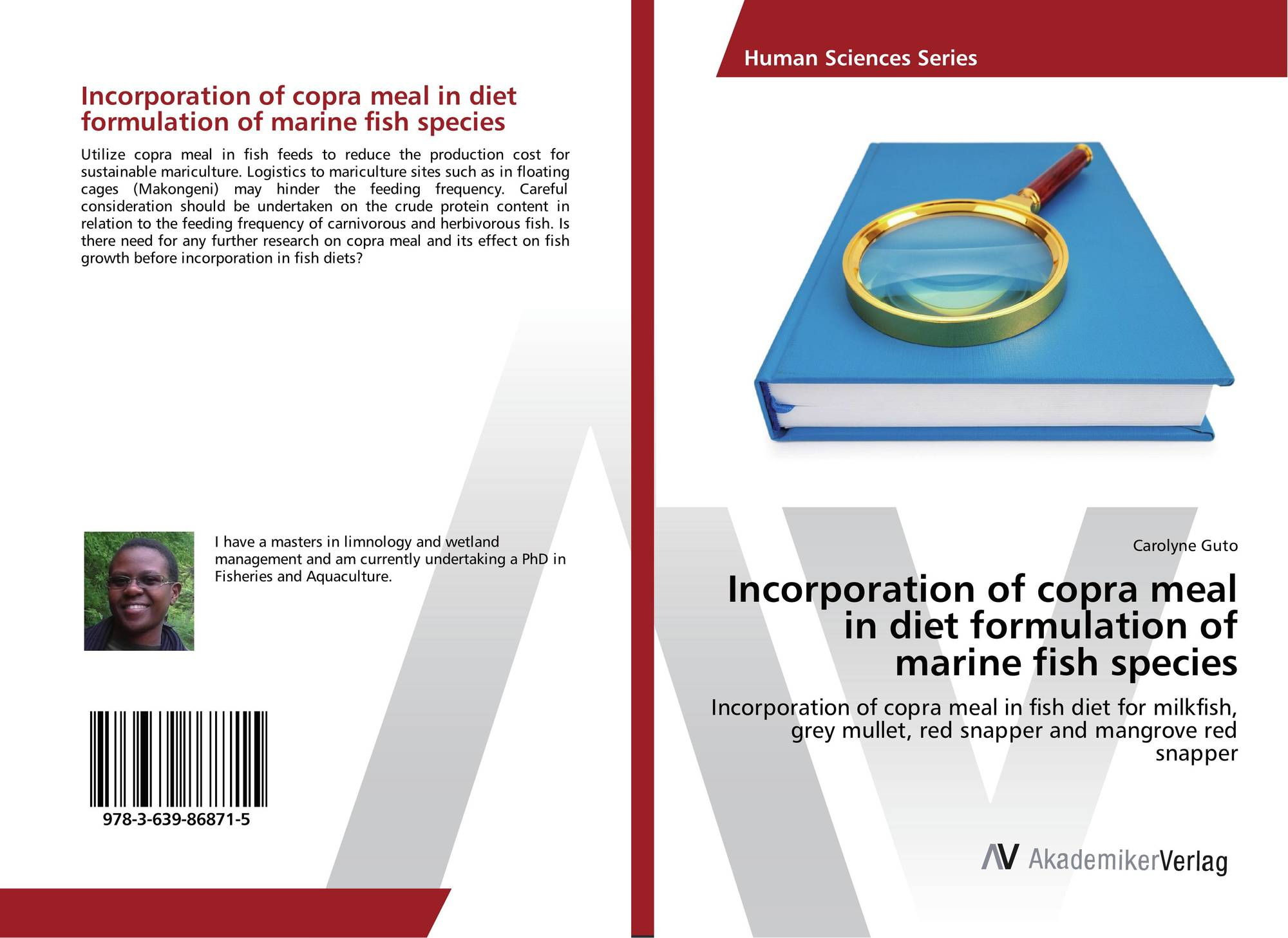 Incorporation of copra meal in diet formulation of marine