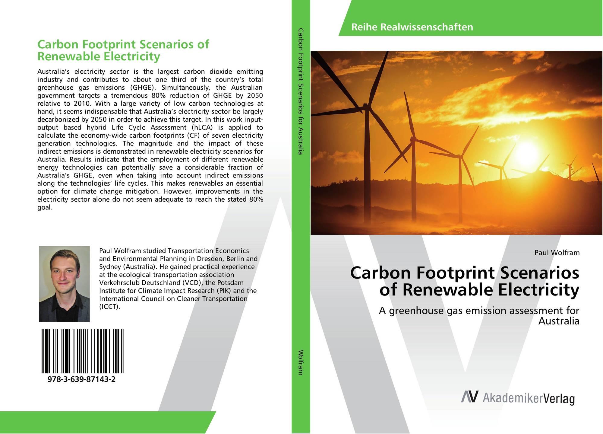 Carbon Footprint Scenarios Of Renewable
