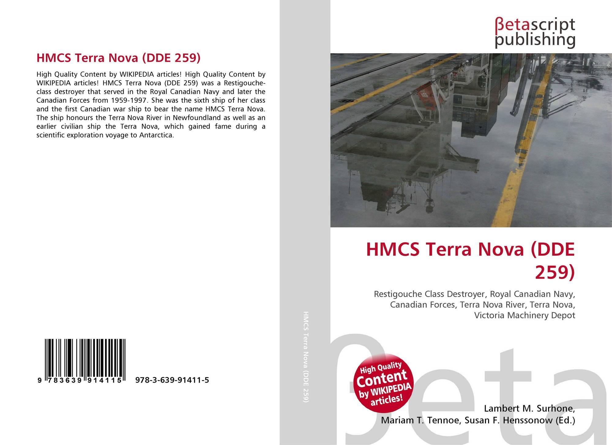 HMCS Terra Nova (DDE 259), 978-3-639-91411-5, 3639914112