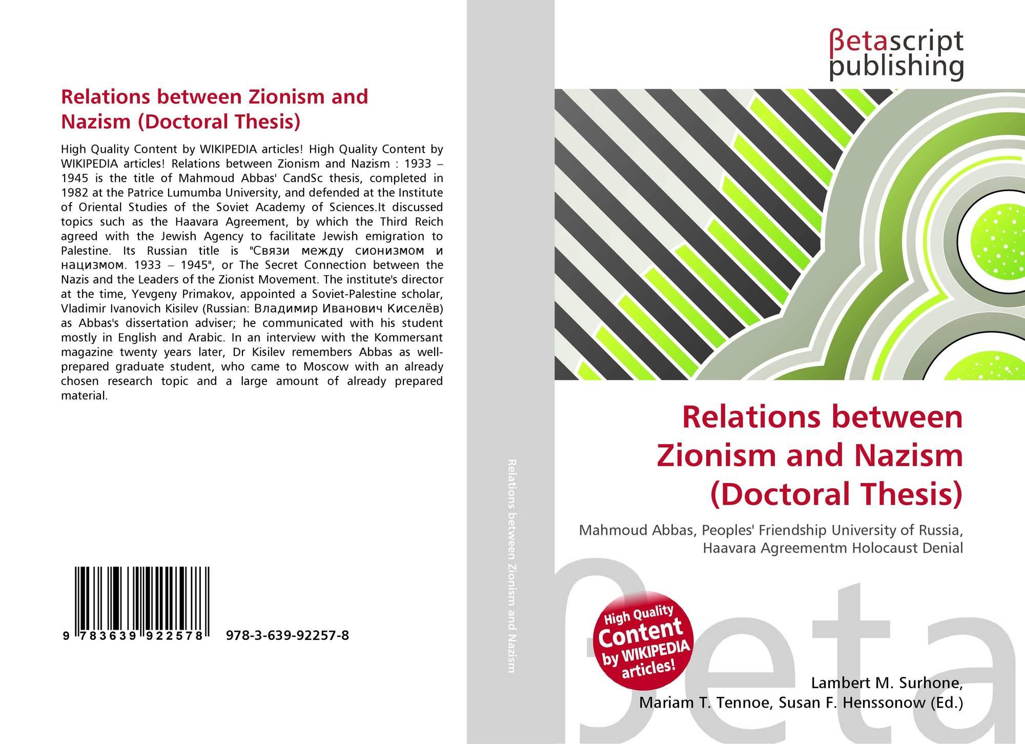 abbas thesis holocaust