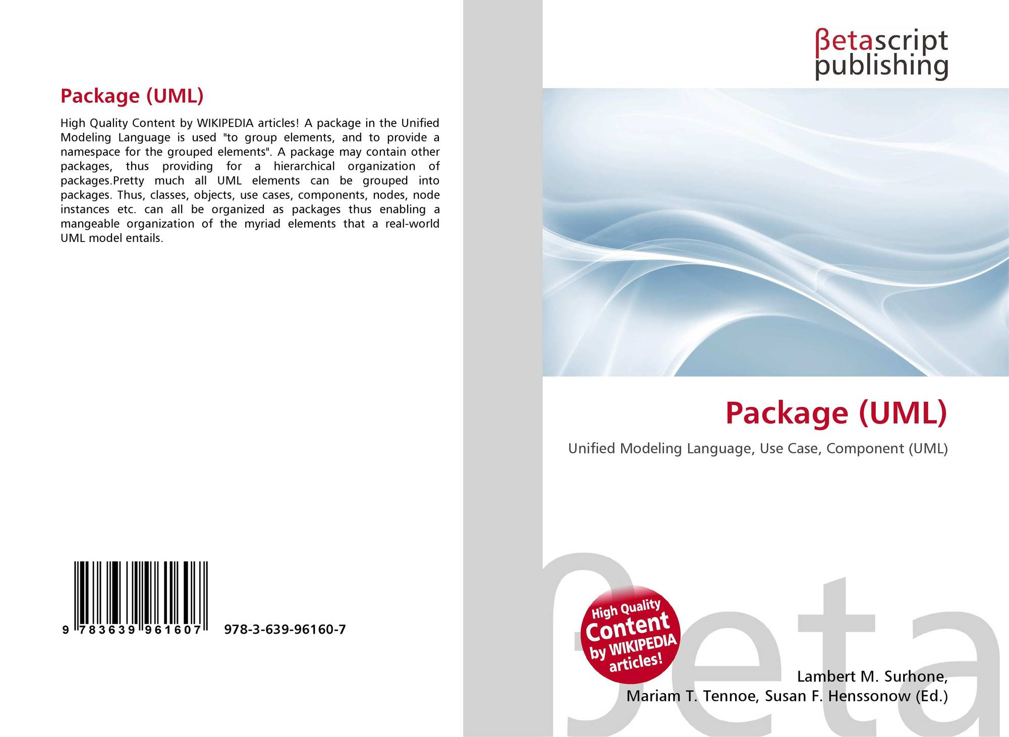 Package uml 978 3 639 96160 7 3639961609 9783639961607 9783639961607 ccuart Choice Image