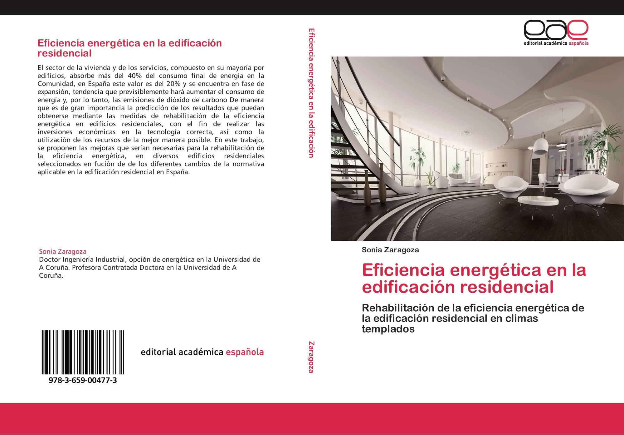 Portada del libro de eficiencia energ tica en la edificaci n residencial