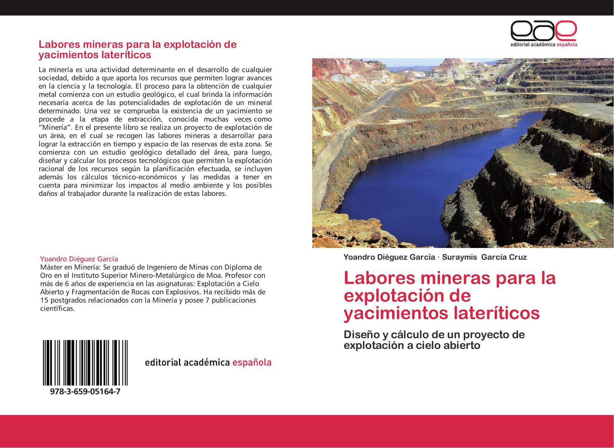 Labores mineras para la explotación de yacimientos lateríticos, 978 ...