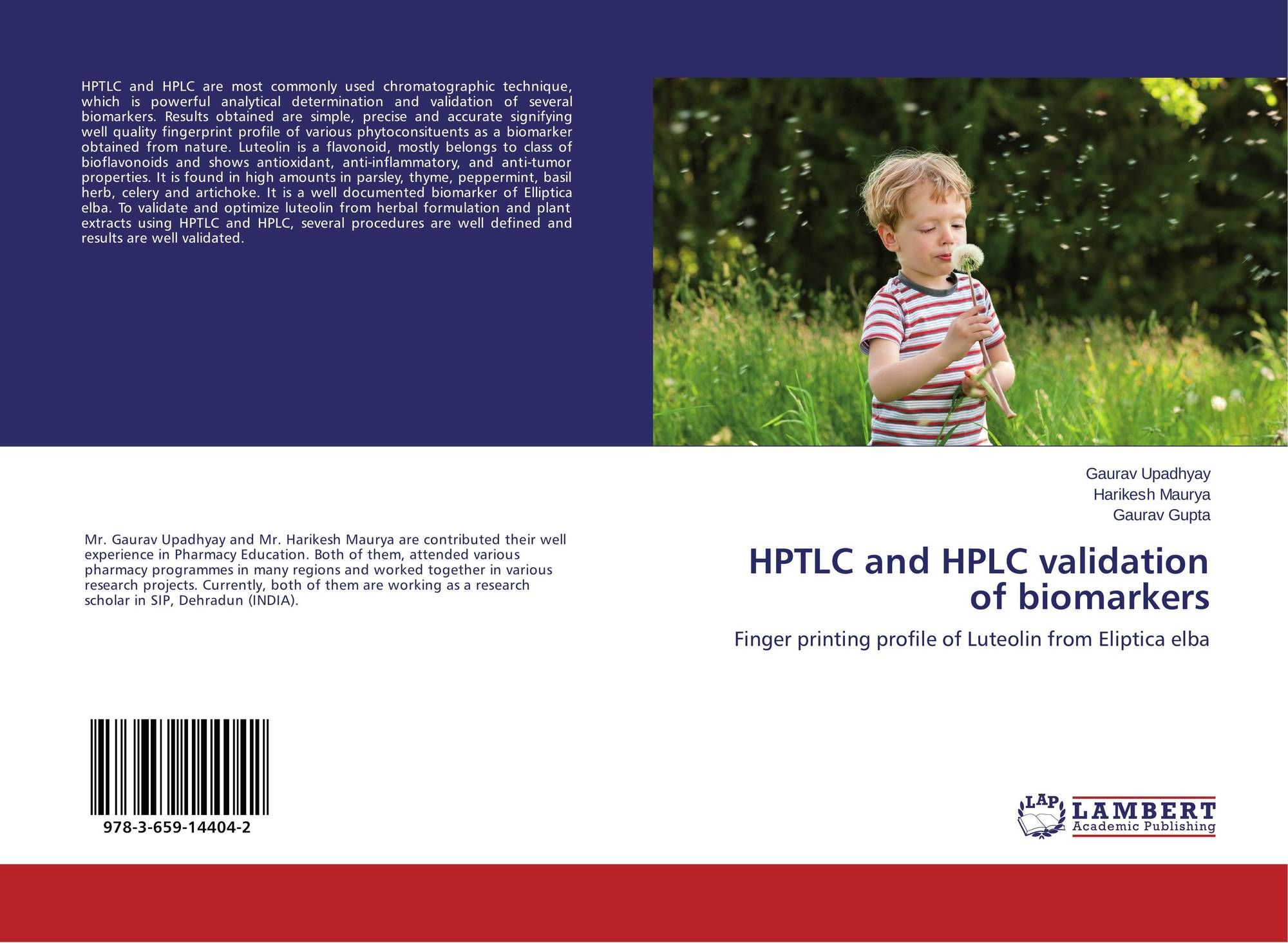 HPTLC and HPLC validation of biomarkers, 978-3-659-14404-2 ...