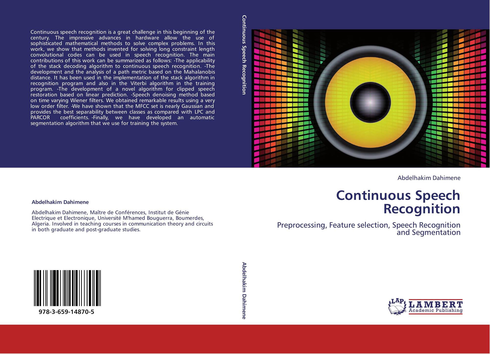 Continuous Speech Recognition 978 3 659 14870 5 3659148709 Circuit Bookcover Of 9783659148705