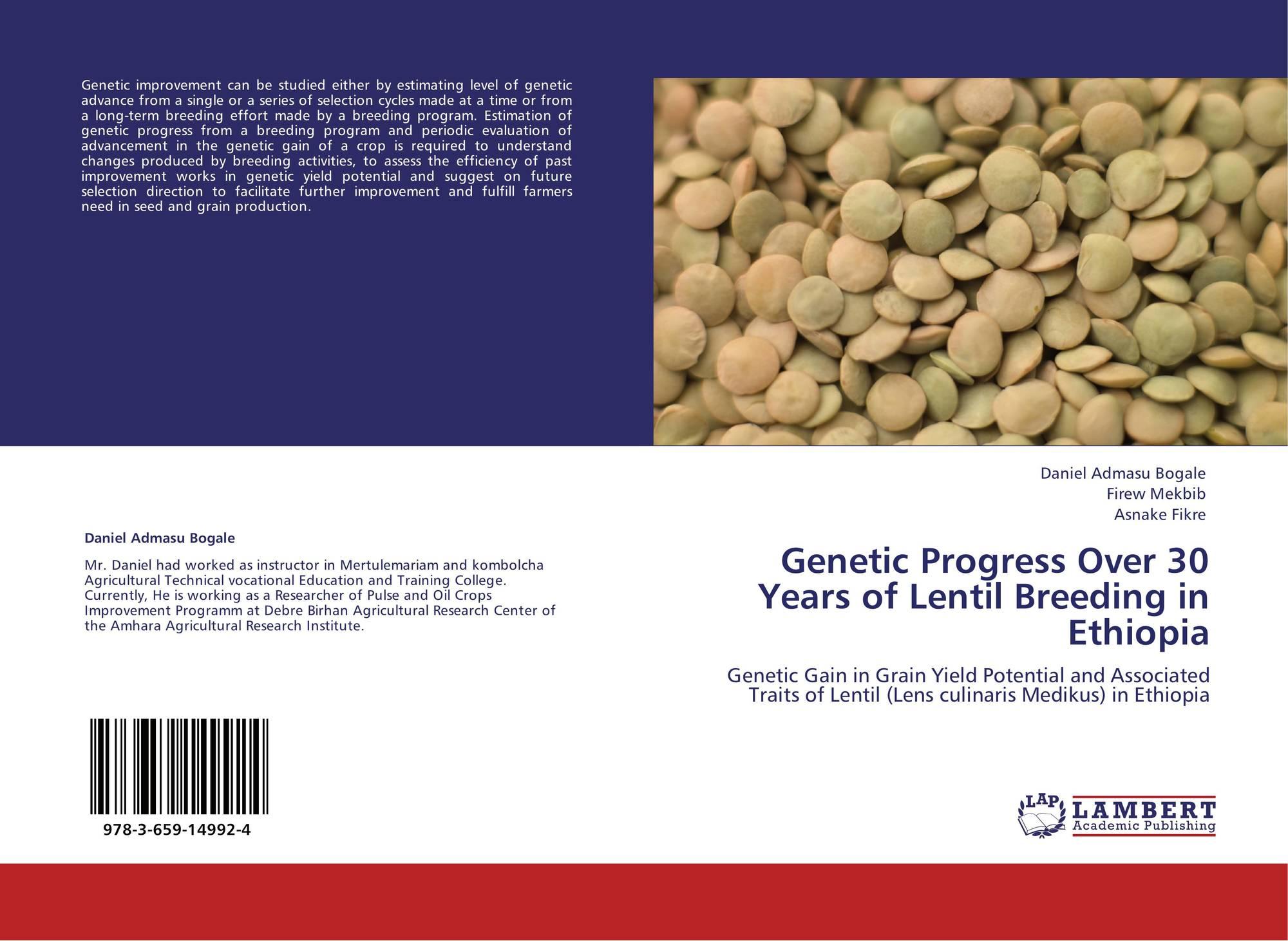 Genetic Progress Over 30 Years of Lentil Breeding in Ethiopia, 978-3