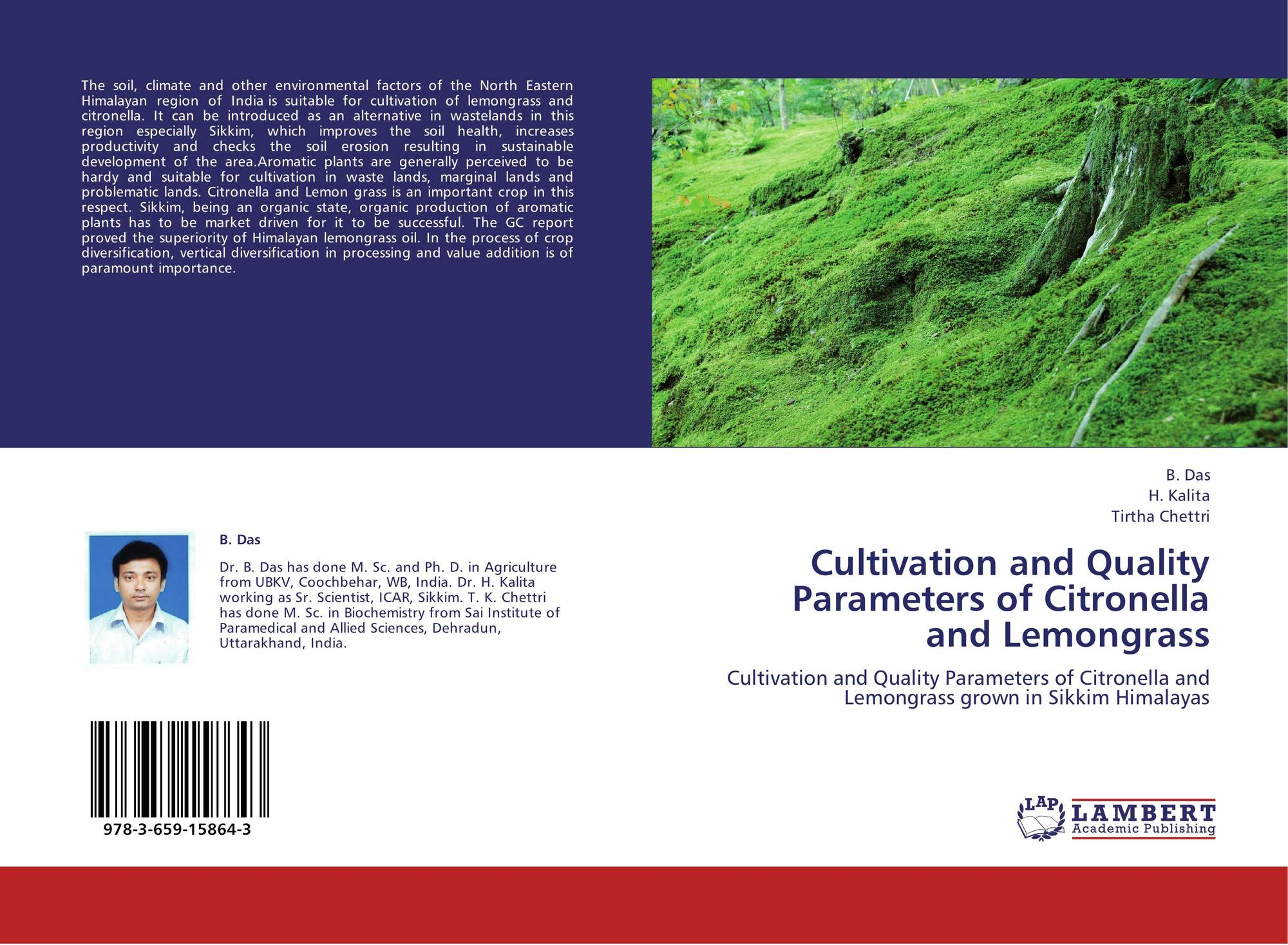 Cultivation and quality parameters of citronella and for Soil quality parameters