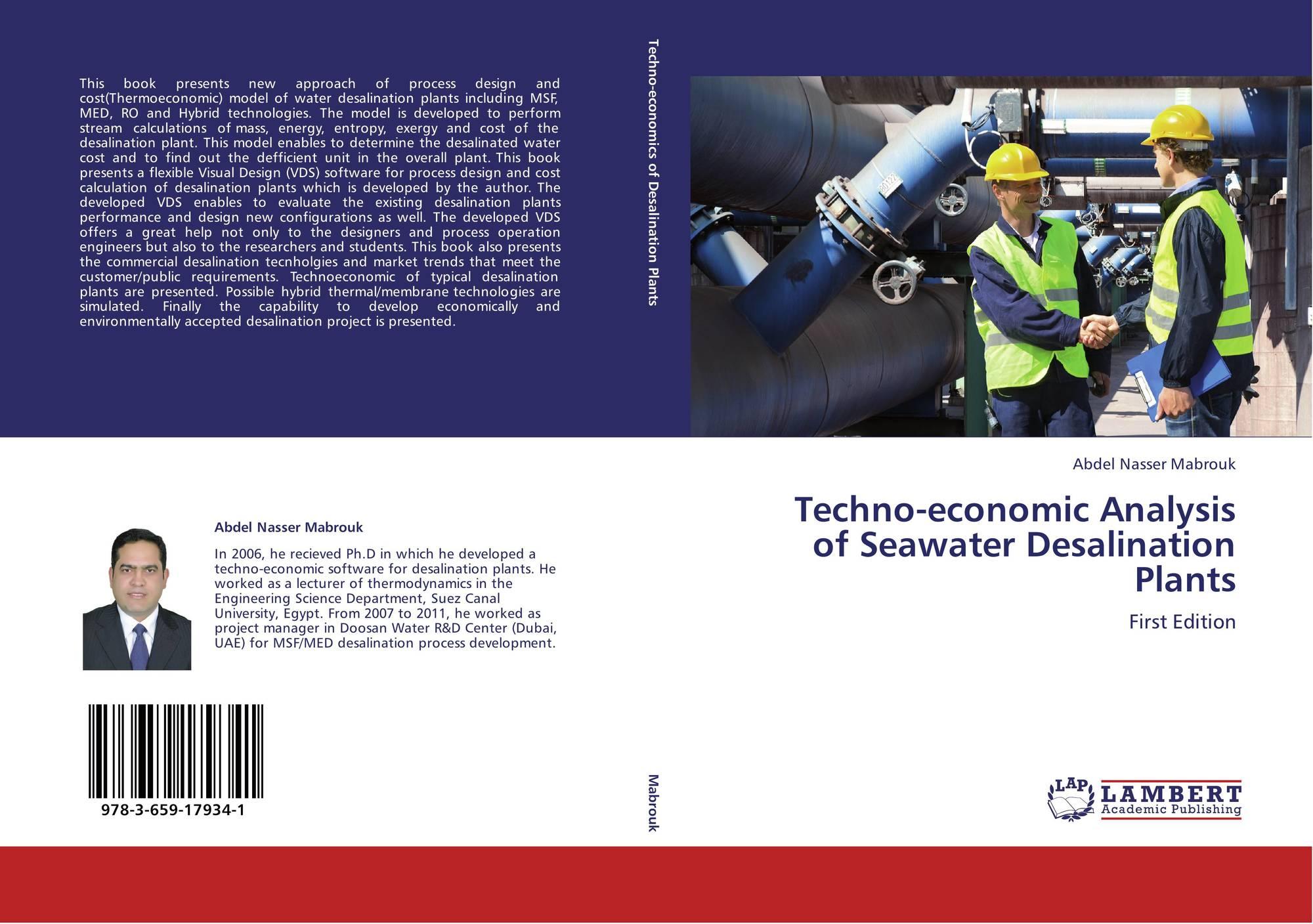 Techno economic Analysis of Seawater Desalination Plants 978 3