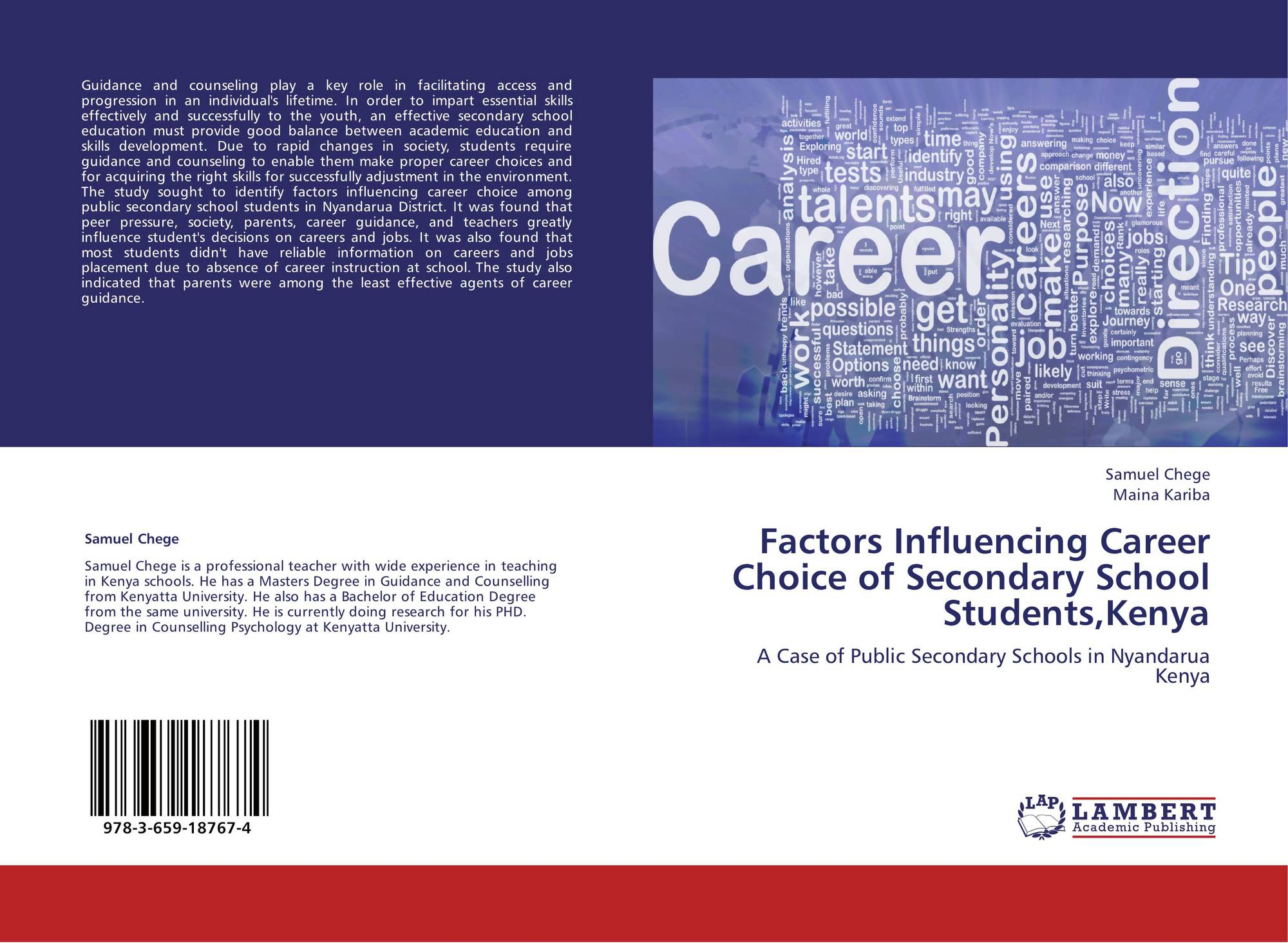 factors affecting students career choice in Factors affecting students' choice and perception of urban and regional planning in nigerian universities abstract the authors examined the factors affecting the choice and the perception of 107 final year students of urban and regional planning (urp) fr.