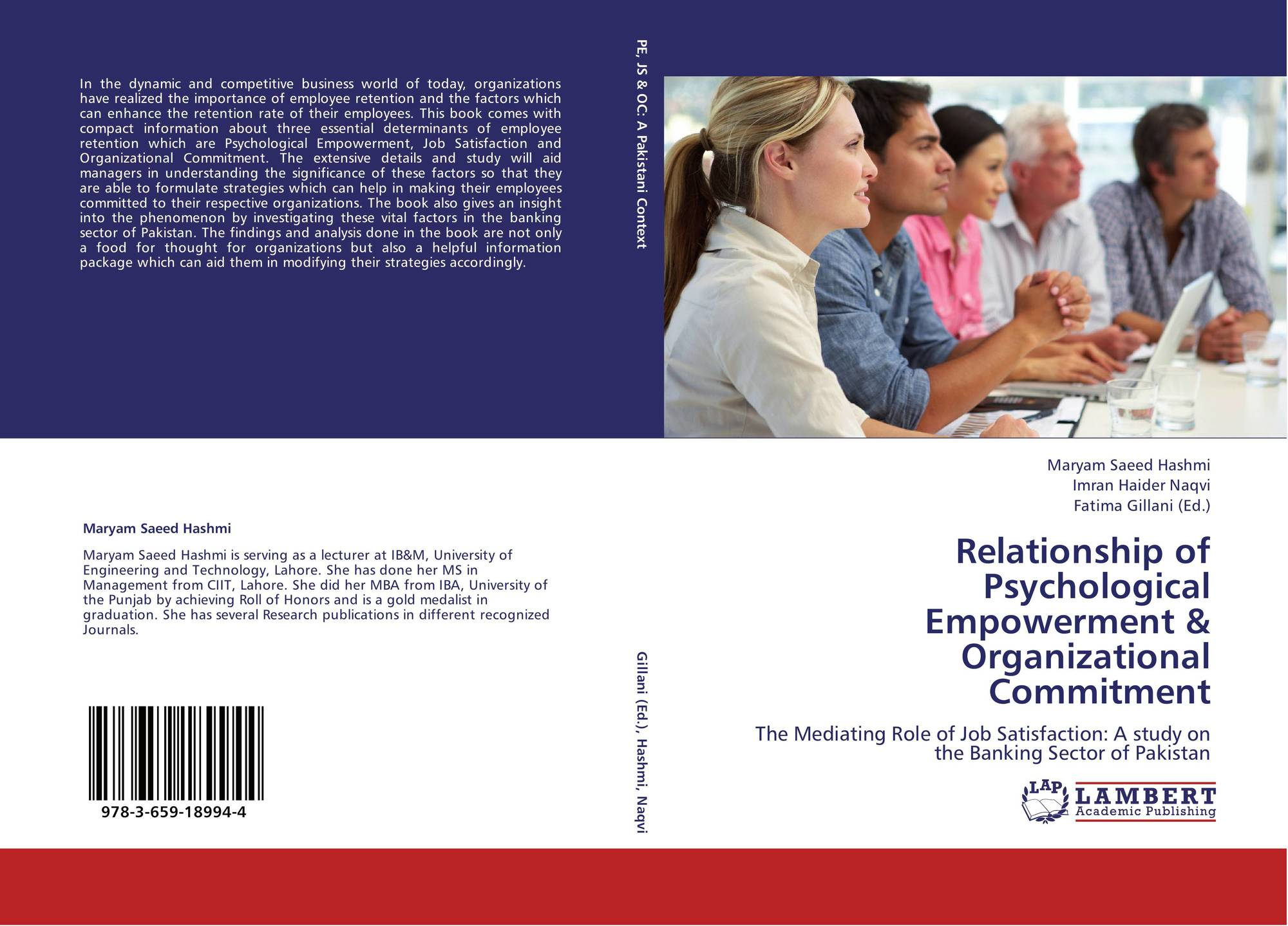 a study on psychological empowerment of Psychological empowerment: the influence on organizational commitment among employees in the construction this study will focus on the psychological empowerment.
