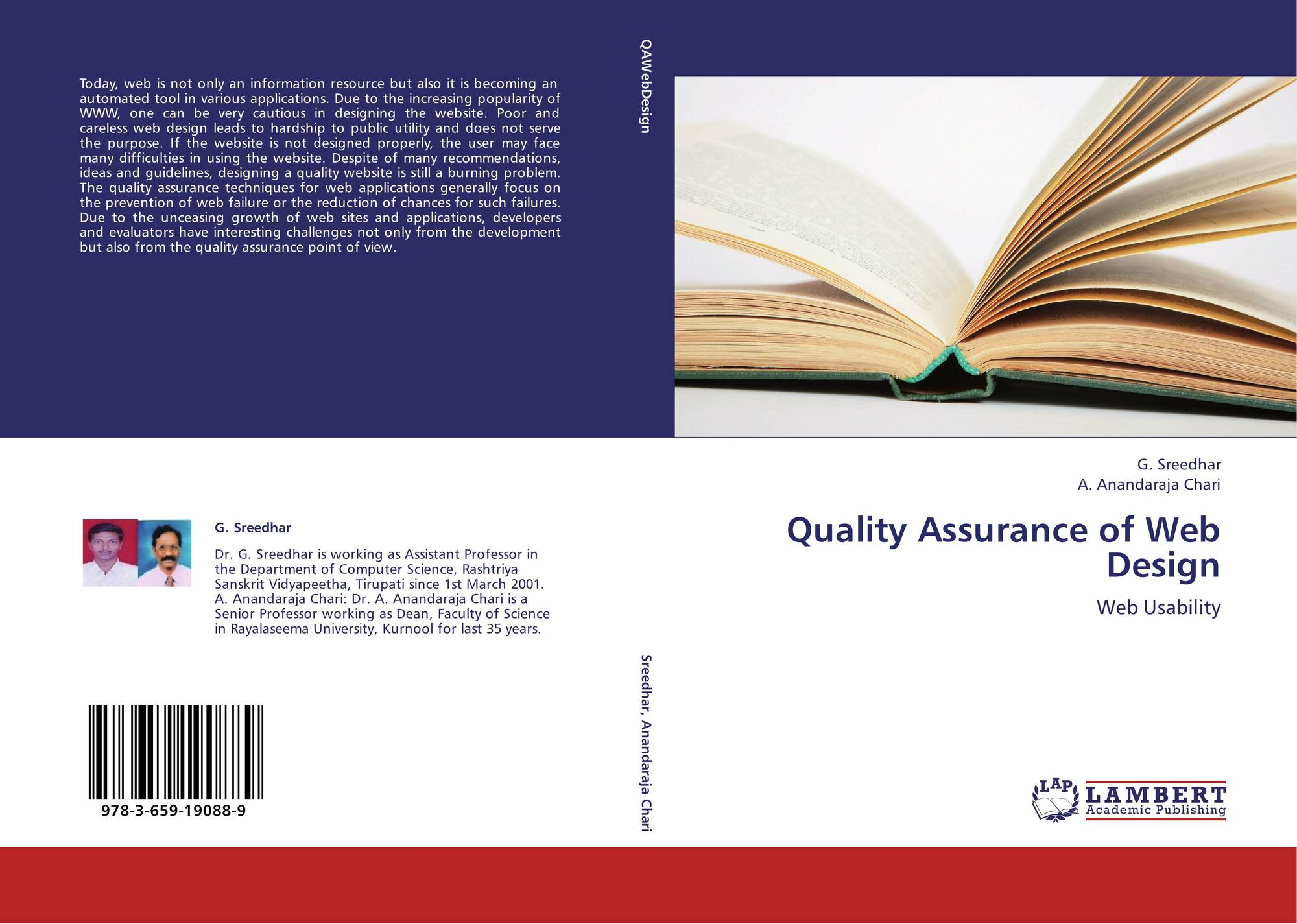 Quality Assurance of Web Design 978 3 659 19088 9 3659190888