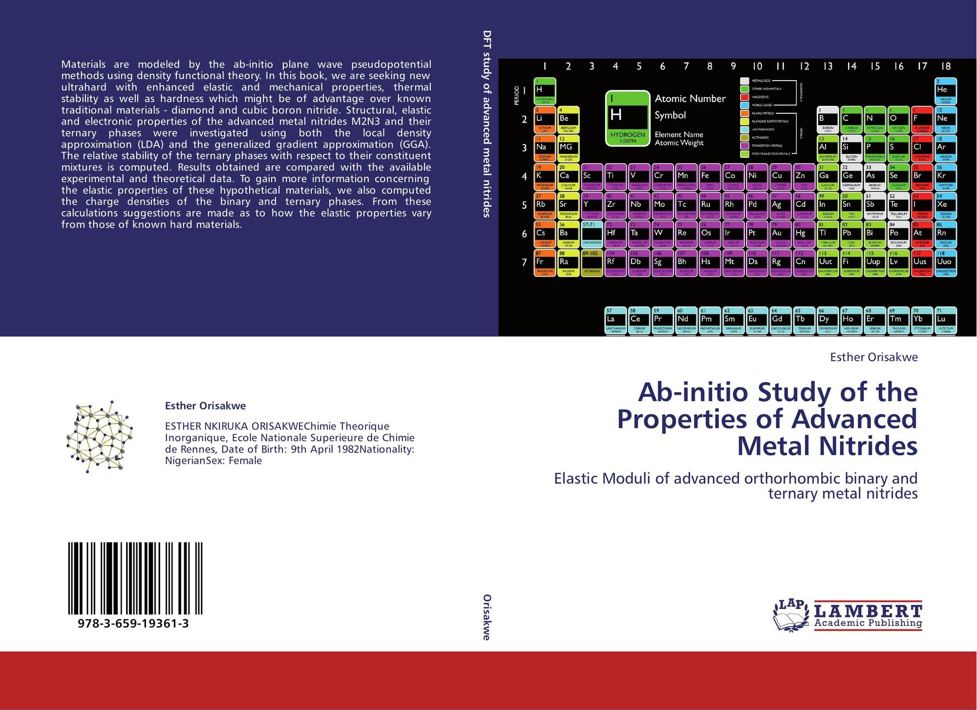 Bookcover of Ab-initio Study of the Properties of Advanced Metal Nitrides.  Omni badge 9307e2201e5f762643a64561af3456be64a87707602f96b92ef18a9bbcada116