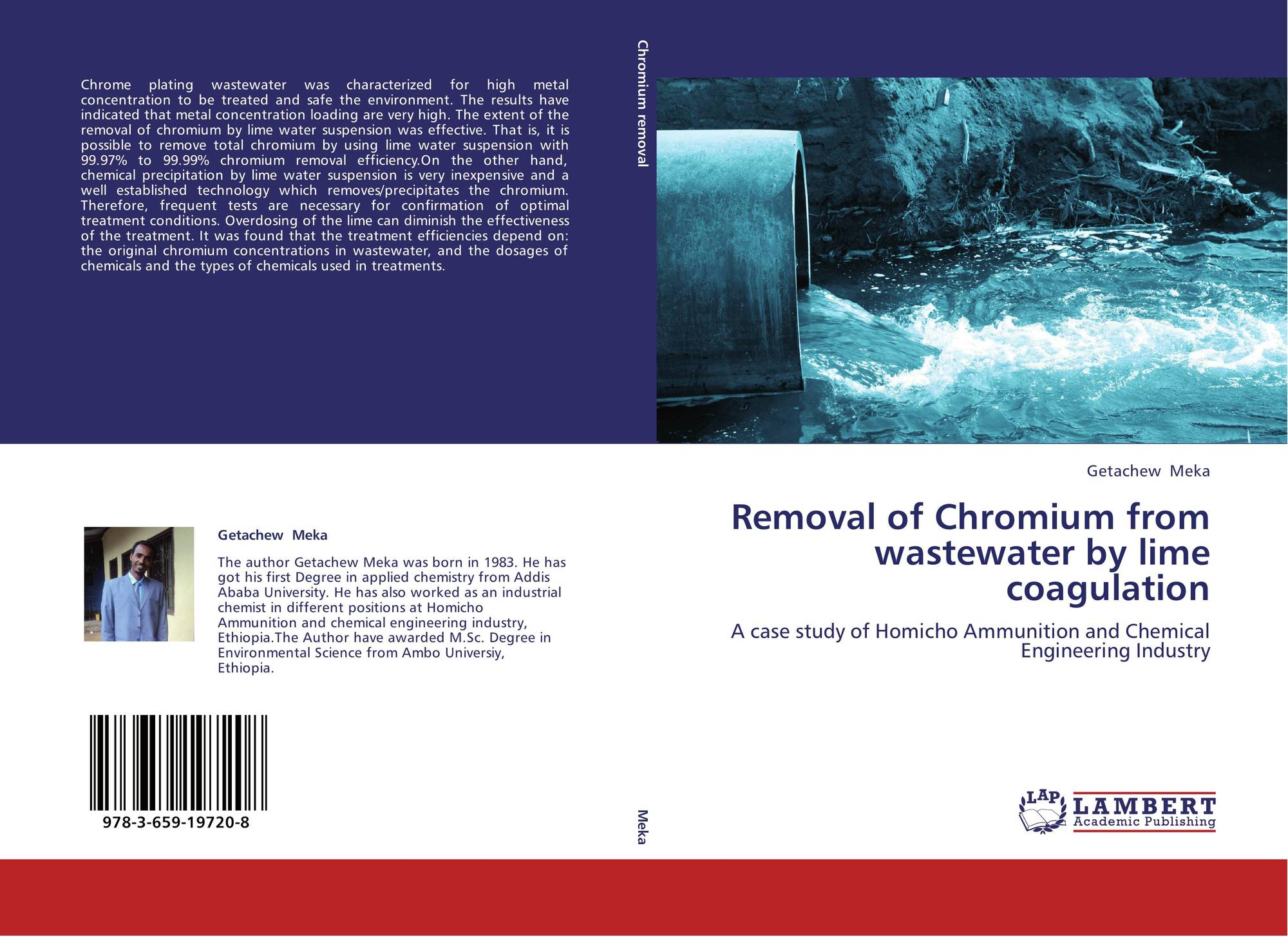 bookcover of removal of chromium from wastewater by lime coagulation
