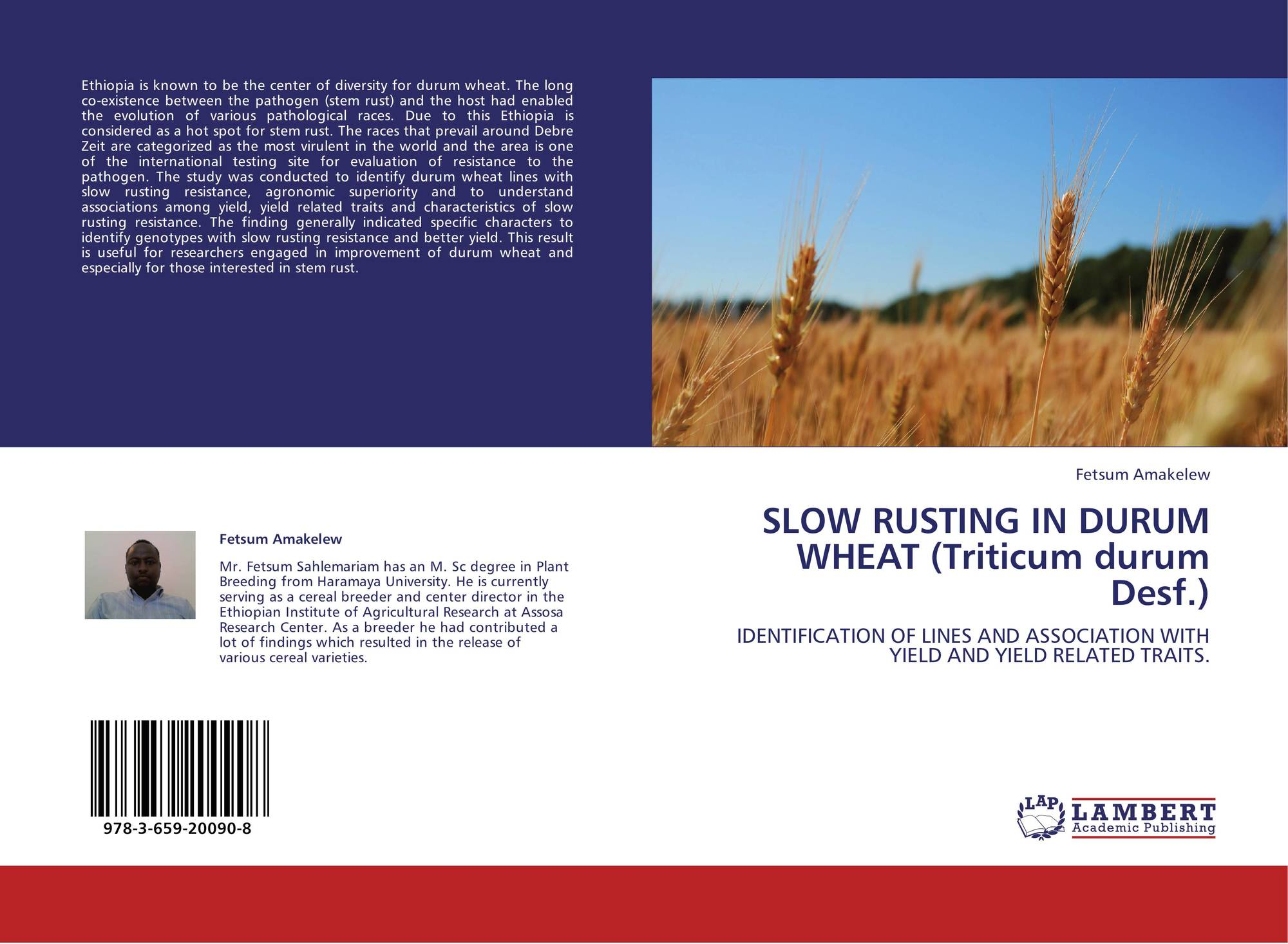 durum wheat thesis Growing environment can affect the quality of durum wheat and subsequent end the effect of pre-harvest herbicides on durum wheat and pasta quality ms thesis.