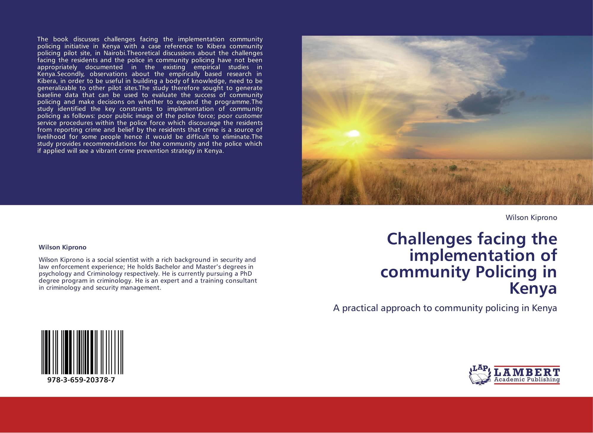 Challenges facing the implementation of community Policing ...