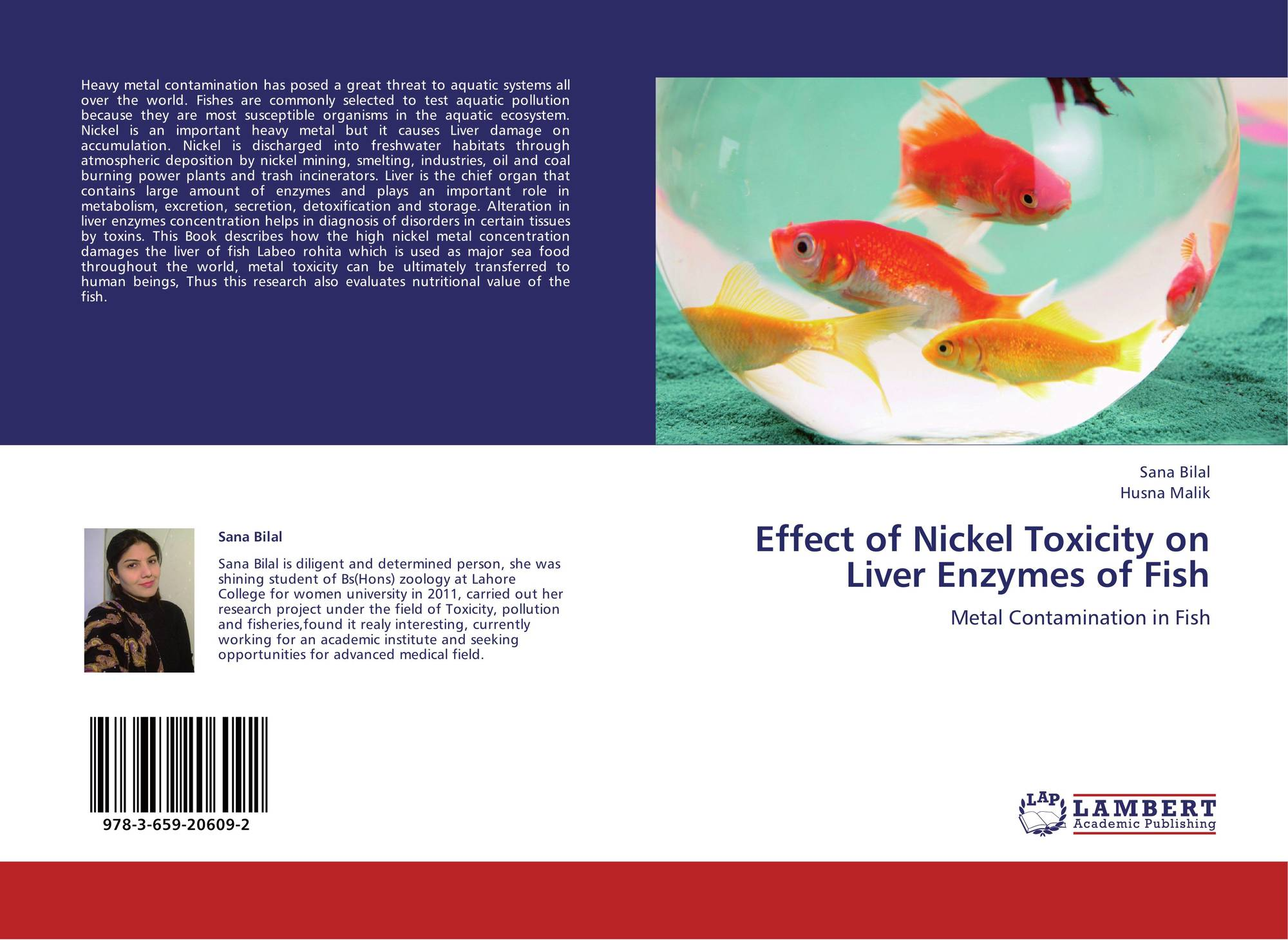 Effect of nickel toxicity on liver enzymes of fish 978 3 for Do fish have livers