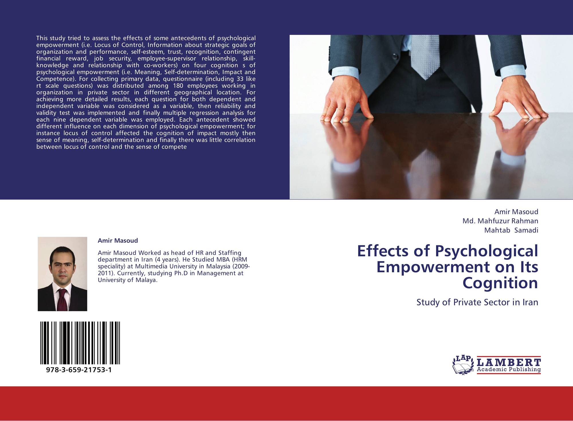 studying psychological empowerment The present study aims to propose and test an integrative model that considers  the mediating effects of generation y employees' psychological empowerment.