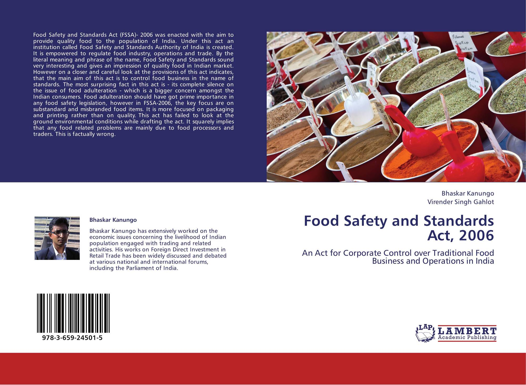 search results for food safety bookcover of food safety and standards act 2006