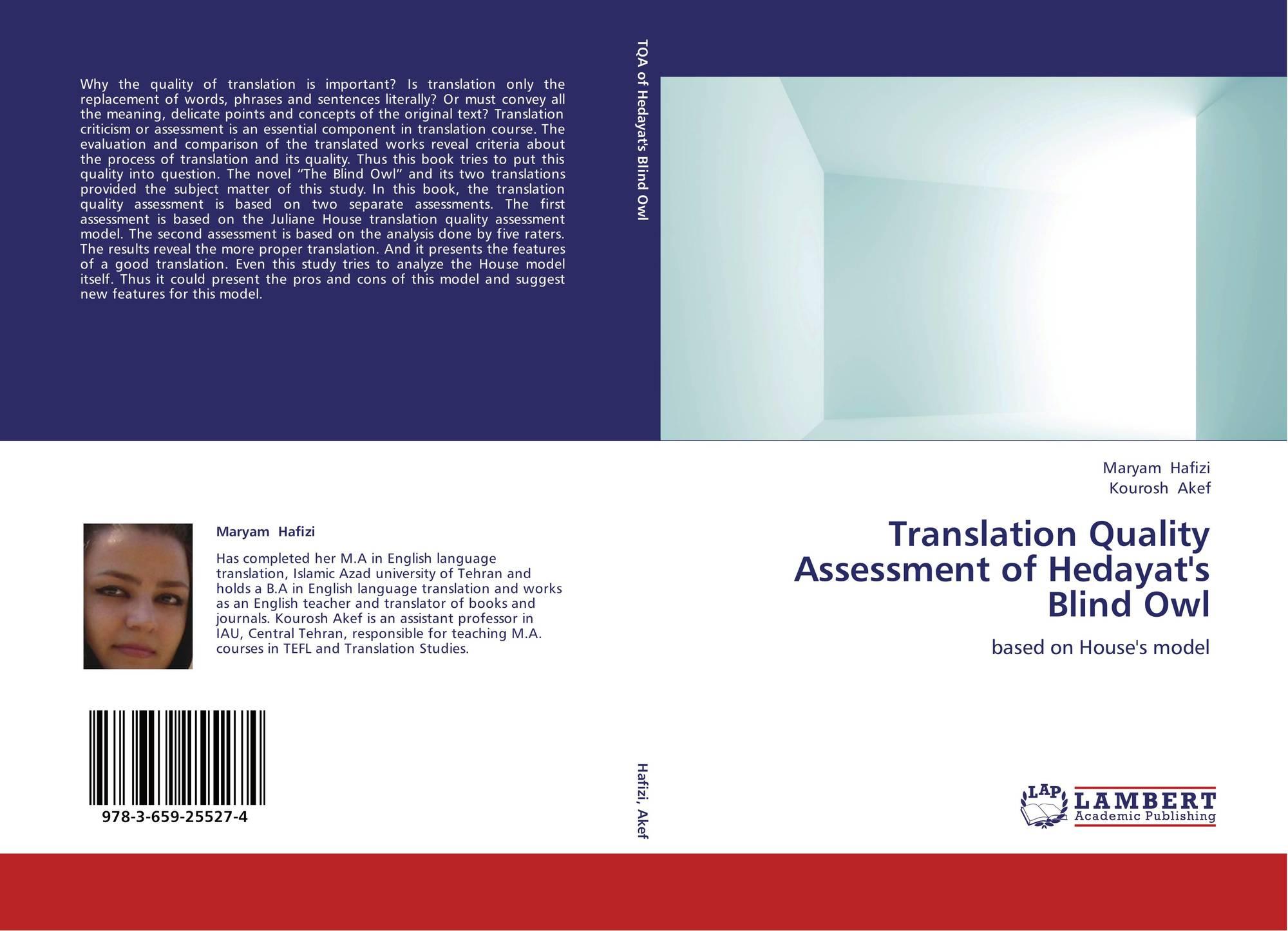 House a model for translation quality assessment