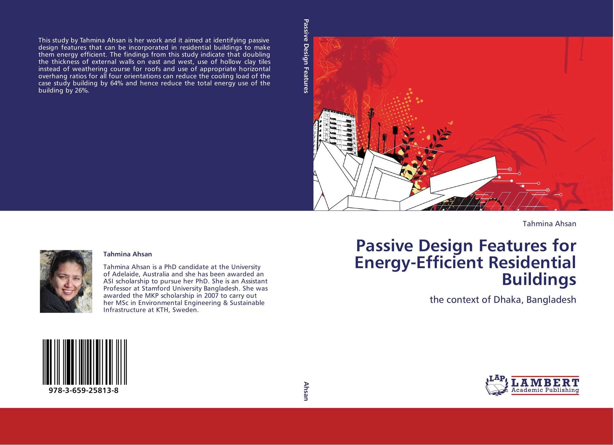 Passive Design Features For Energy Efficient Residential Buildings 978 3 659 25813 8