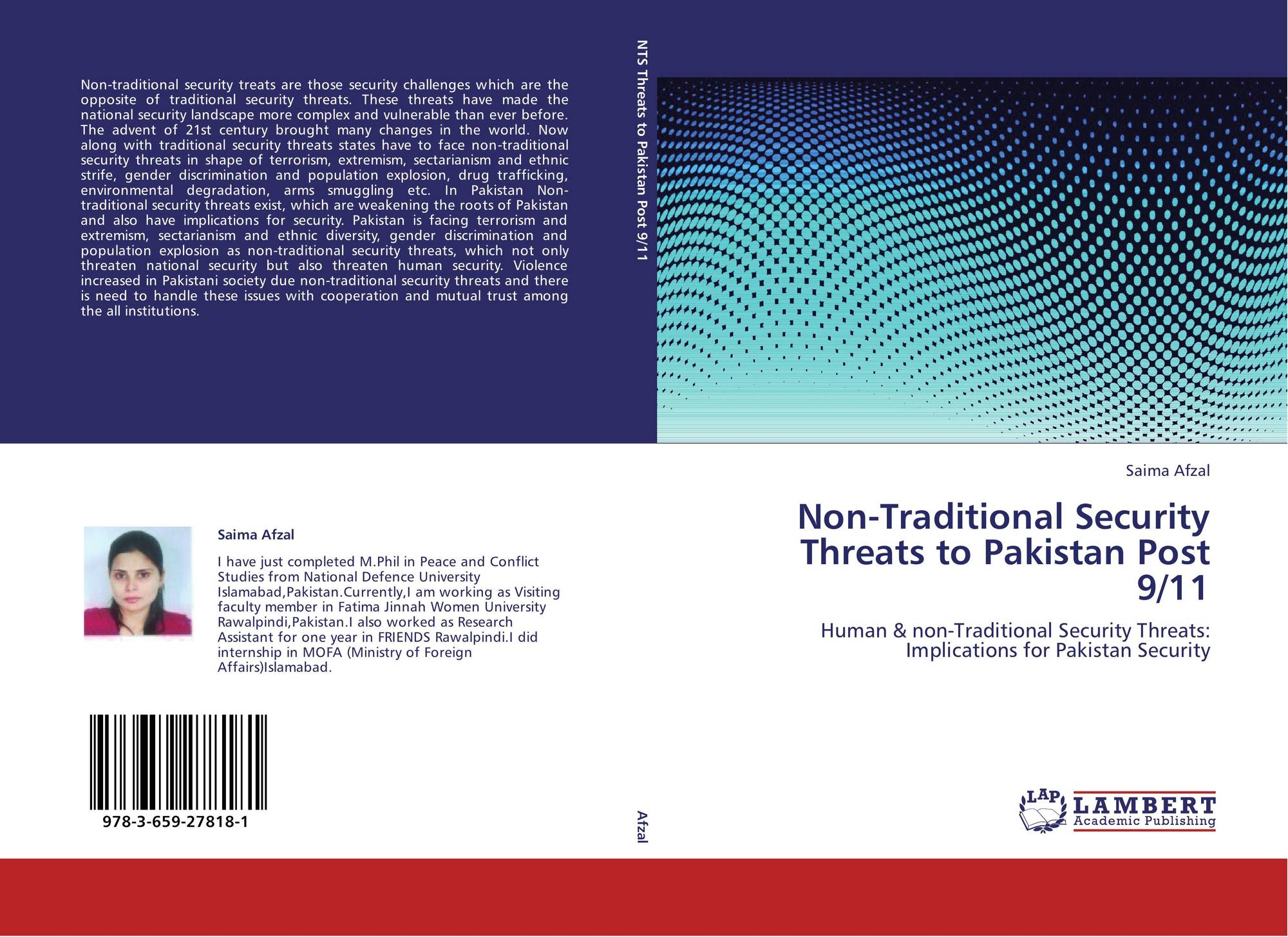 Non-Traditional Security Threats to Pakistan Post 9/11, 978-3-659