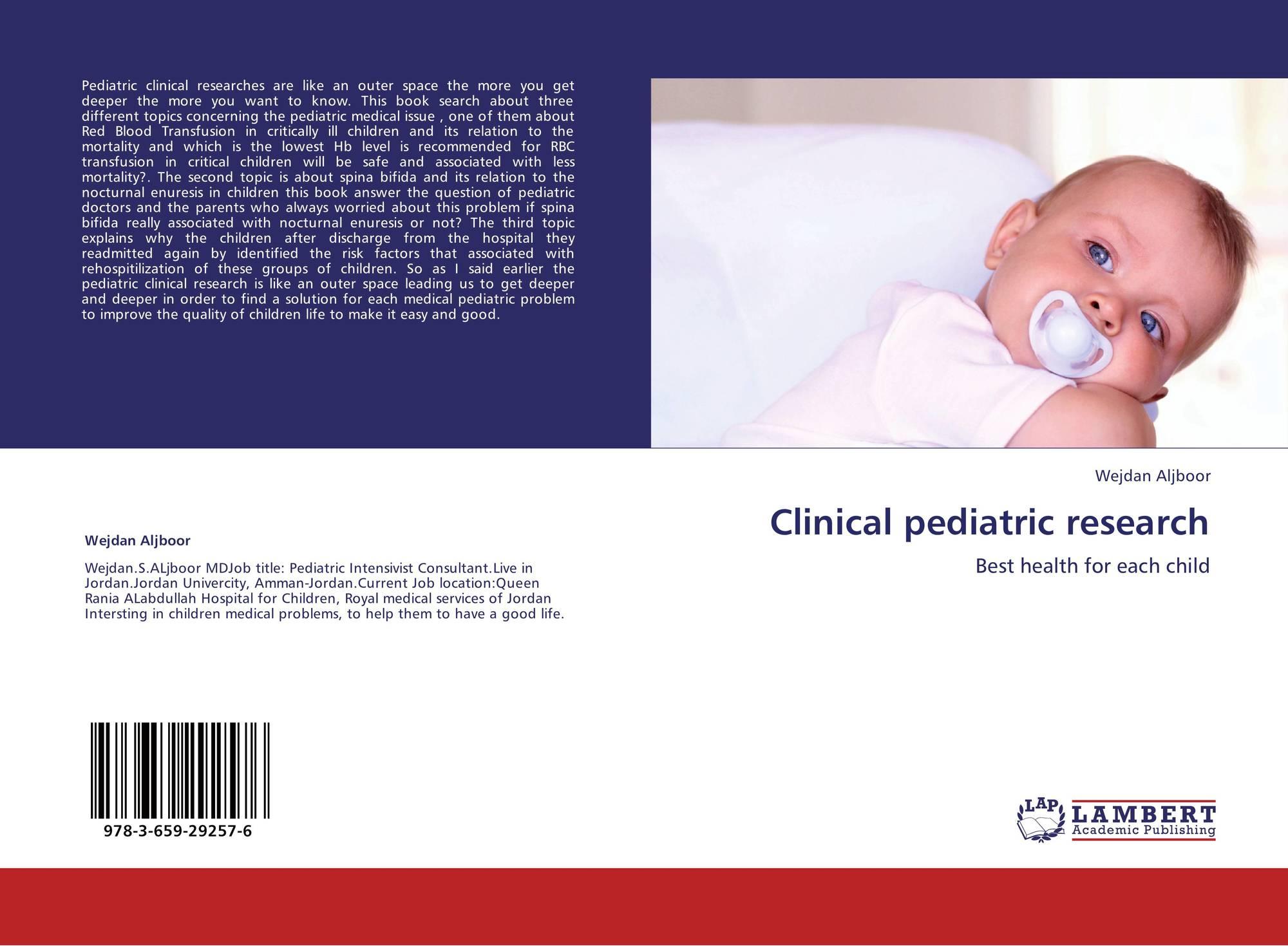 Clinical pediatric research, 978-3-659-29257-6, 3659292575