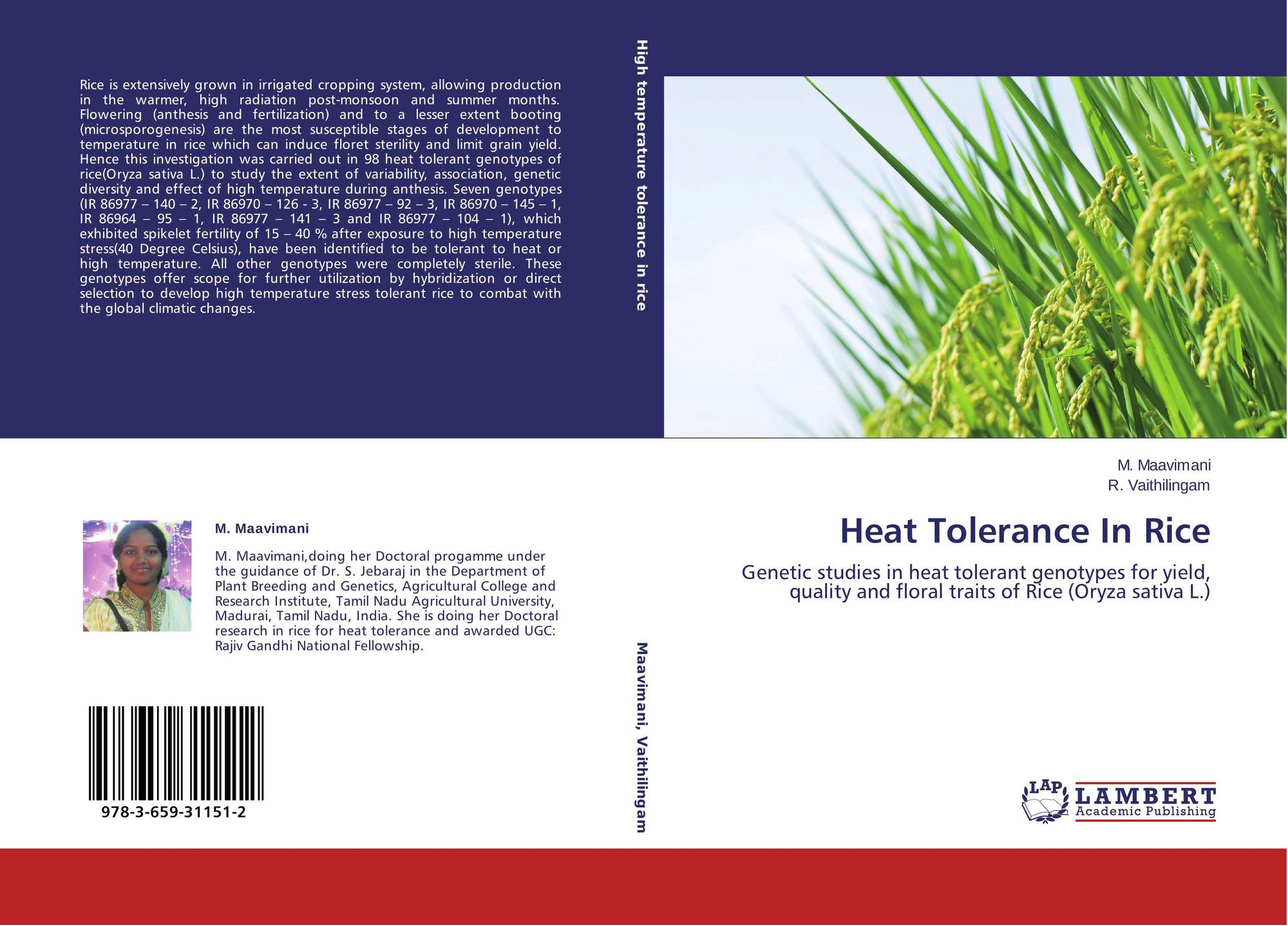 genetic analysis of heat tolerance at anthesis on rice These lines are a good genetic resource for basic and applied studies on heat tolerance in rice and craufurd, p (2010a) genetic analysis of heat tolerance at anthesis in rice crop contrasting responses to heat stress at gametogenesis and anthesis crop sci 55, 589-596 doi: 10.