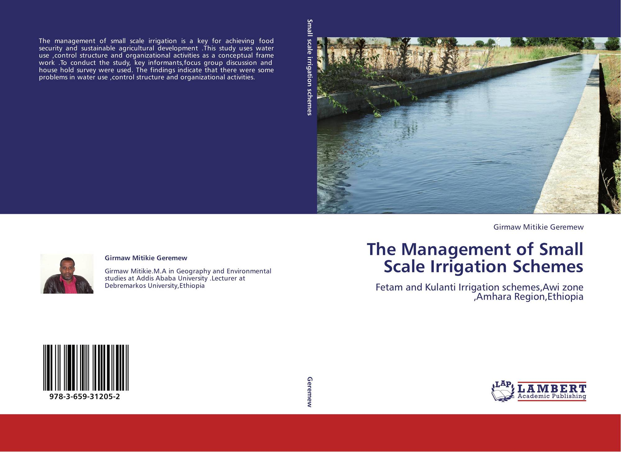 Bookcover of The Management of Small Scale Irrigation Schemes