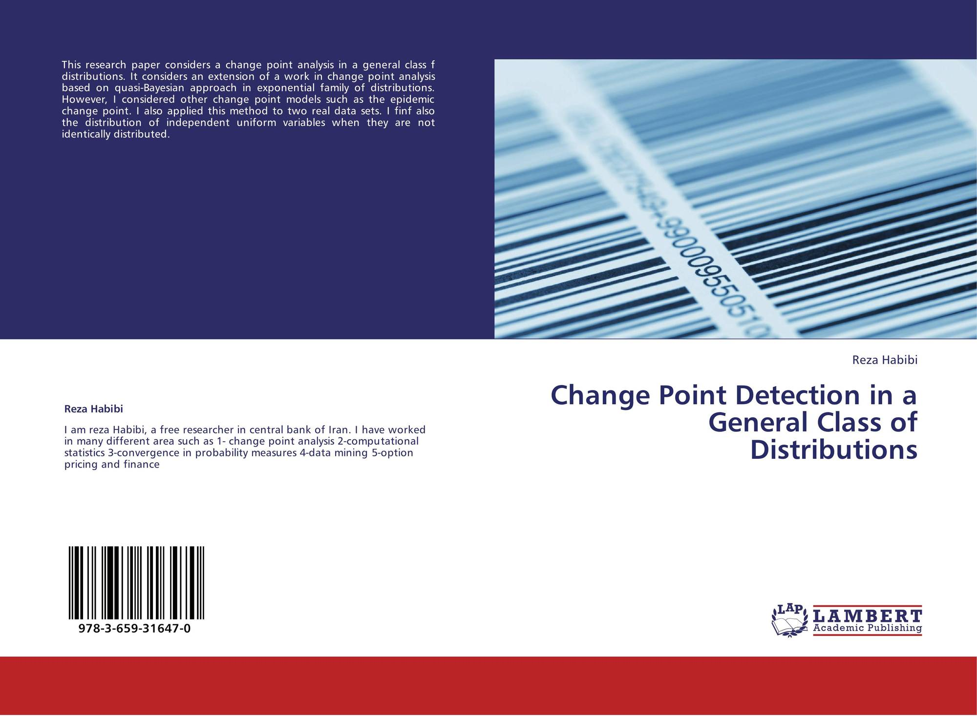 Bookcover of Change Point Detection in a General Class of Distributions