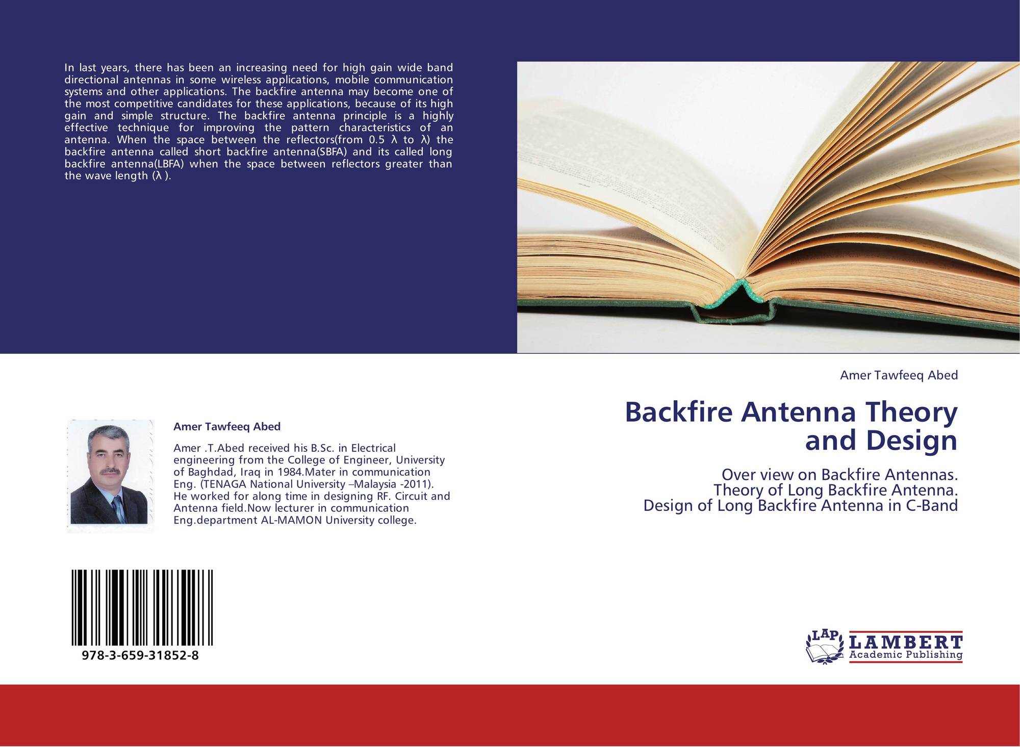 Backfire Antenna Theory and Design, 978-3-659-31852-8