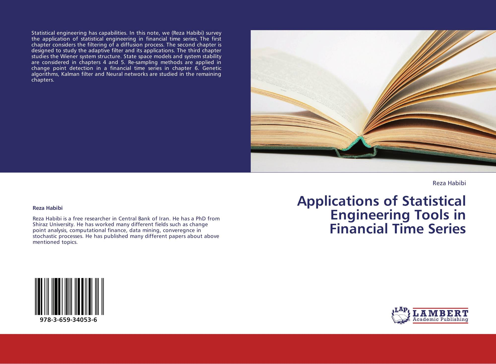 Bookcover of Applications of Statistical Engineering Tools in Financial  Time Series