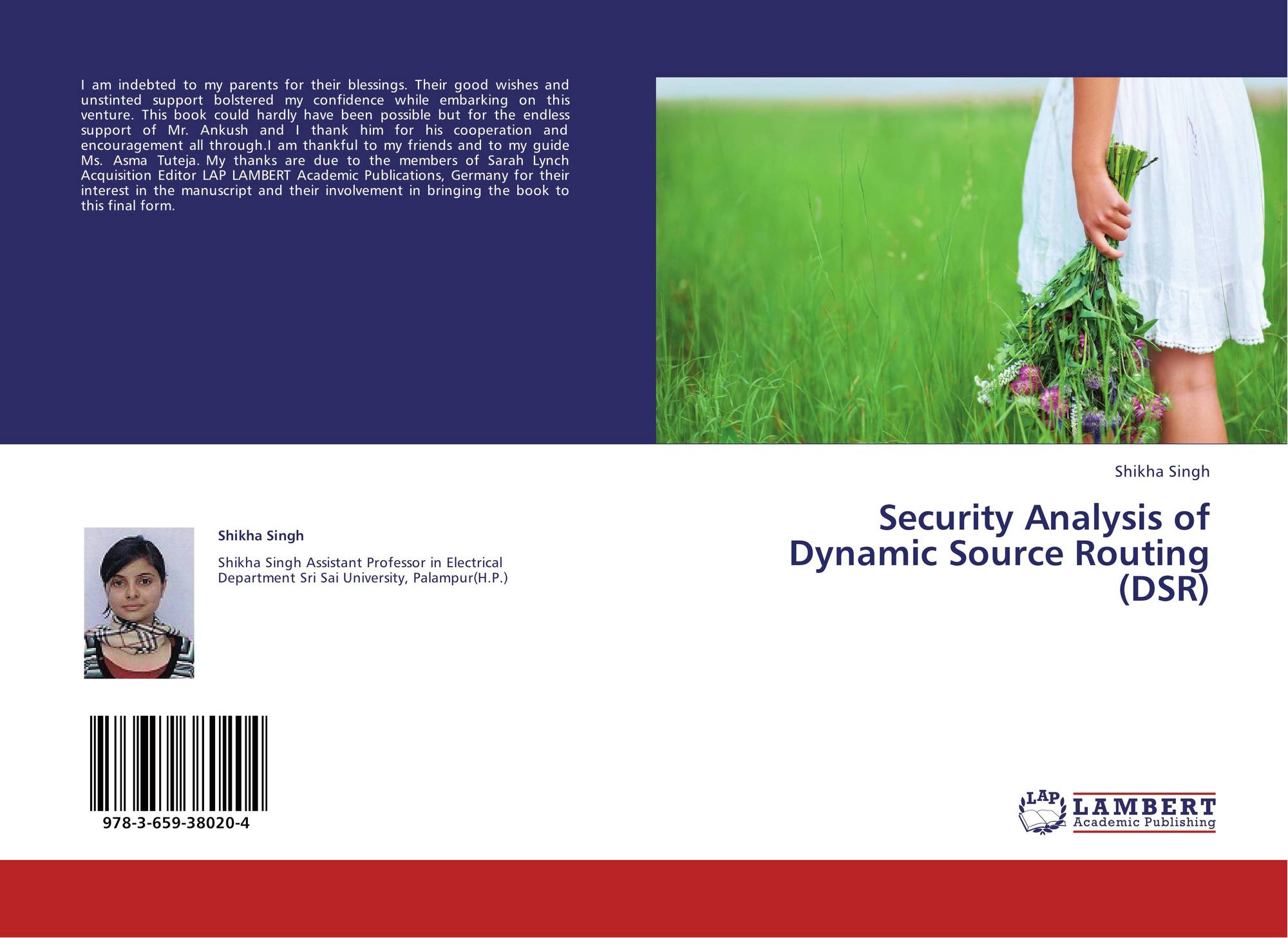 search results for ankush chormule bookcover of security analysis of dynamic source routing dsr