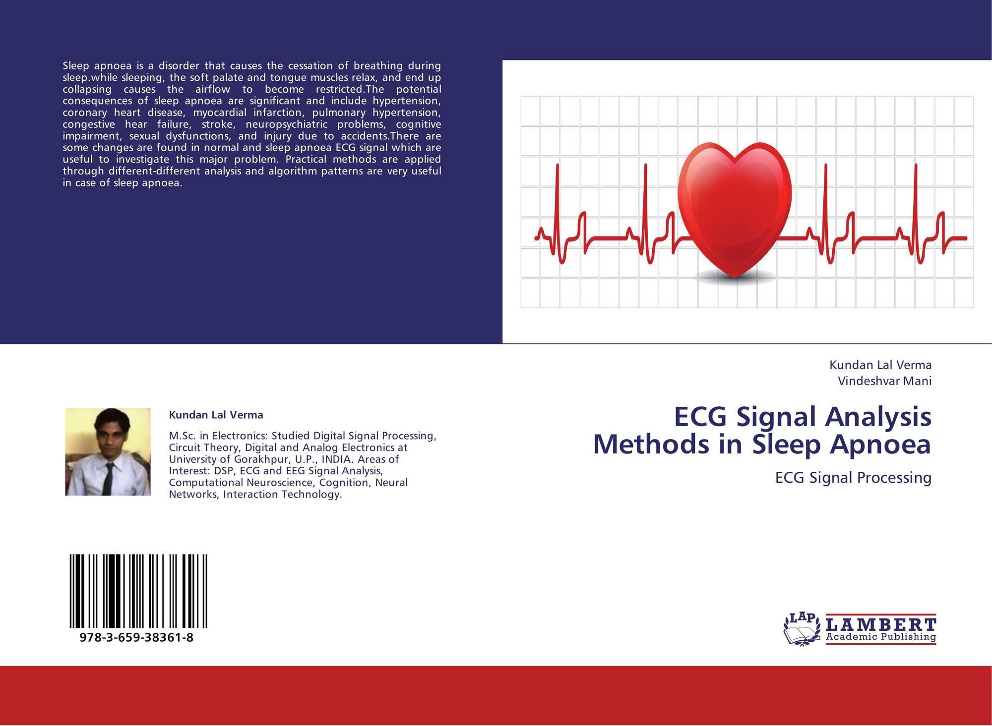ECG Signal Analysis Methods in Sleep Apnoea, 978-3-659-38361-8