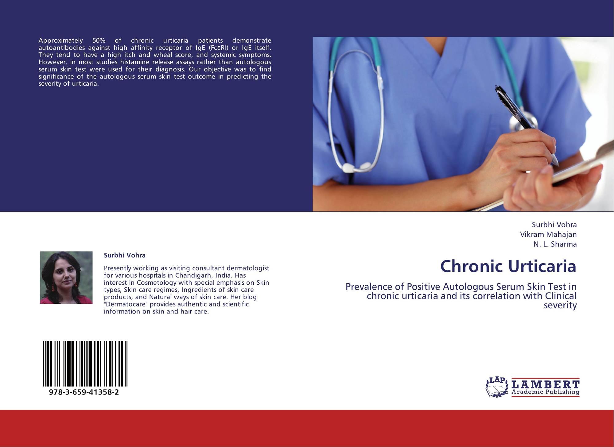 Chronic Urticaria, 978-3-659-41358-2, 3659413585