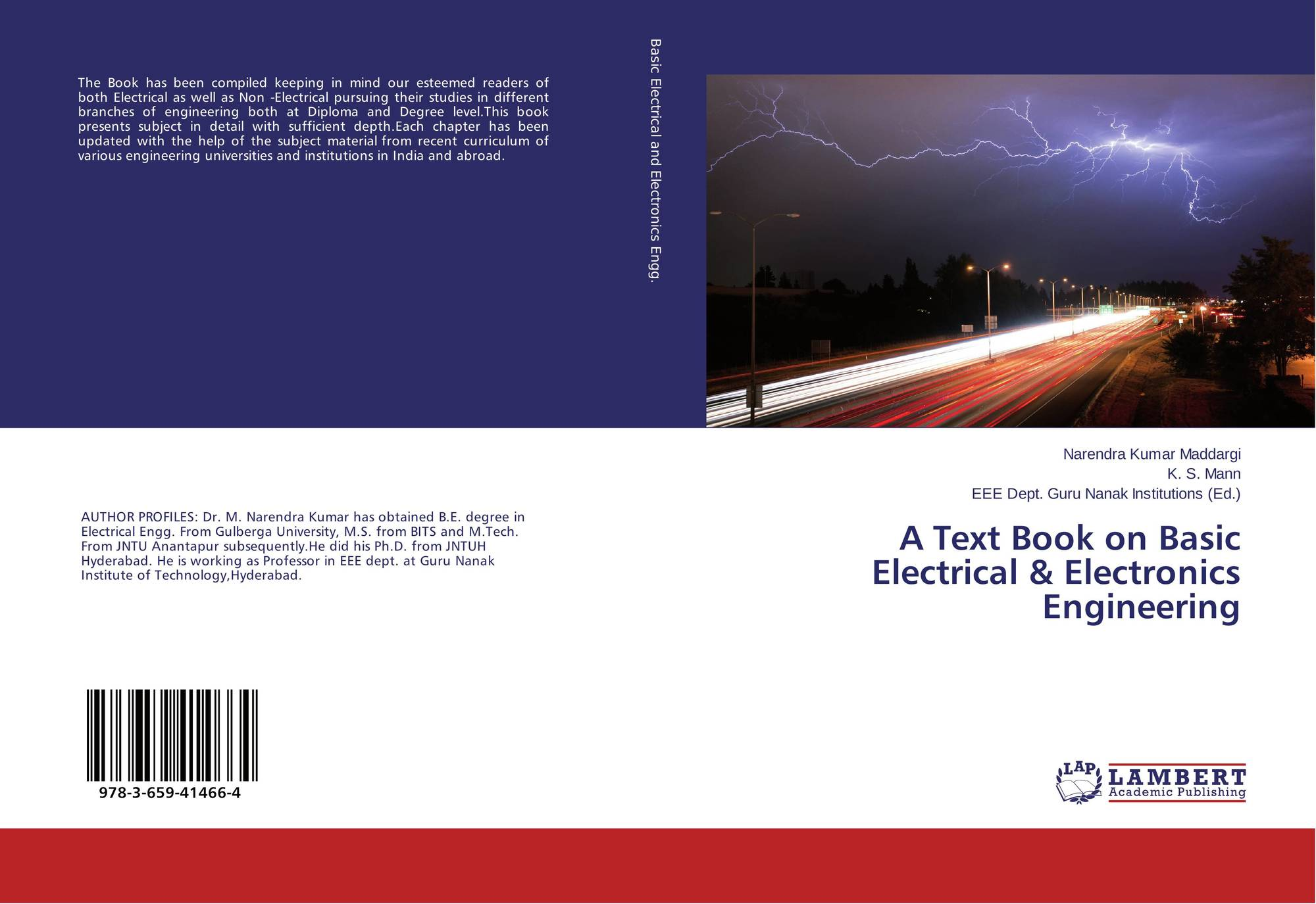 A Text Book On Basic Electrical Electronics Engineering 978 3 659