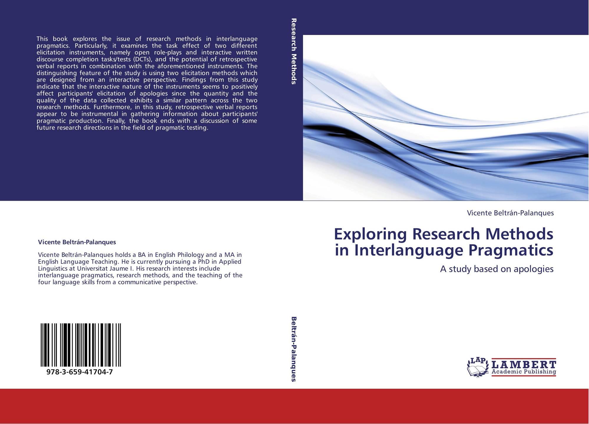Обложка exploring research methods in interlanguage pragmatics