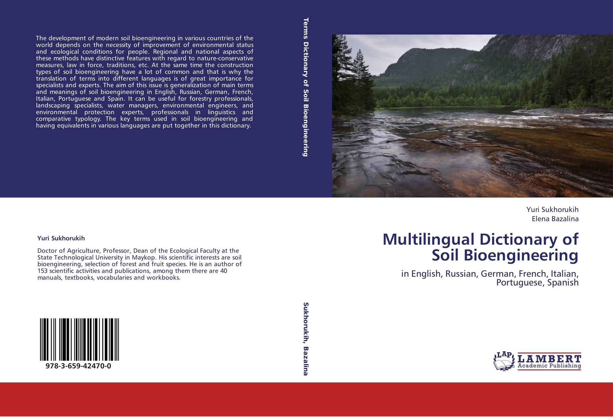 Multilingual dictionary of soil bioengineering 978 3 659 for Soil dictionary