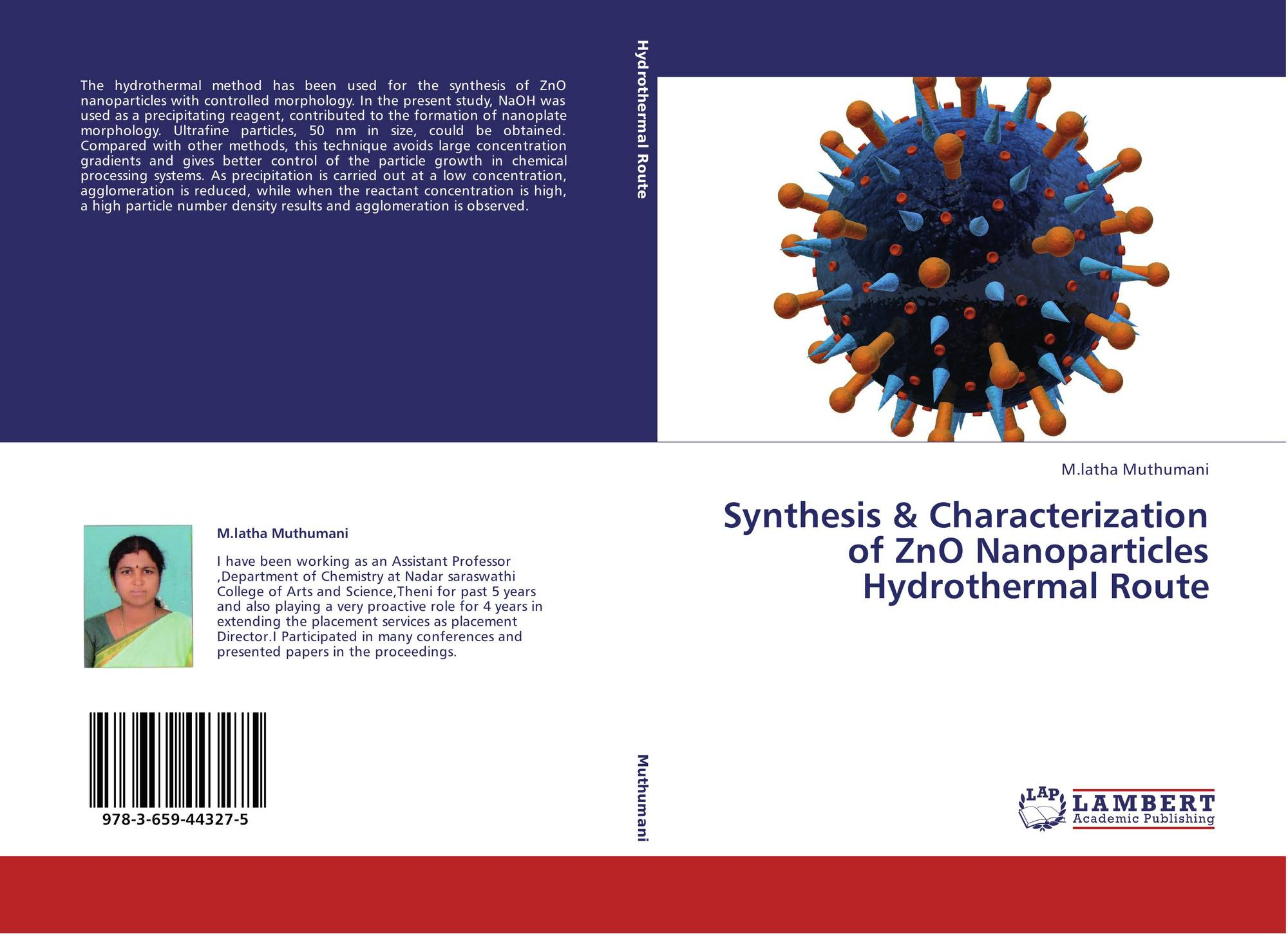 thesis on zno nanoparticles Dissolution and aggregation of zinc oxide nanoparticles at circumneutral ph a study of size effects in a thesis submitted in partial fulfillment.
