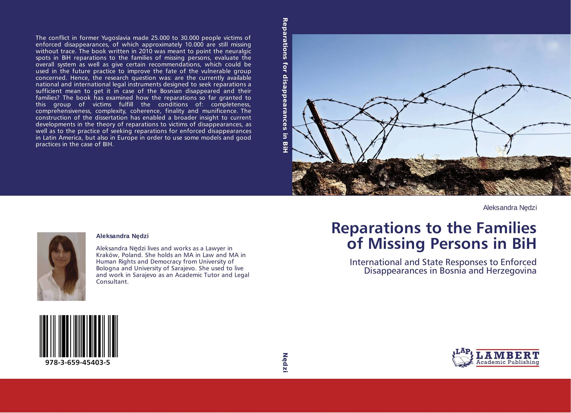 Reparations to the Families of Missing Persons in BiH, 978-3