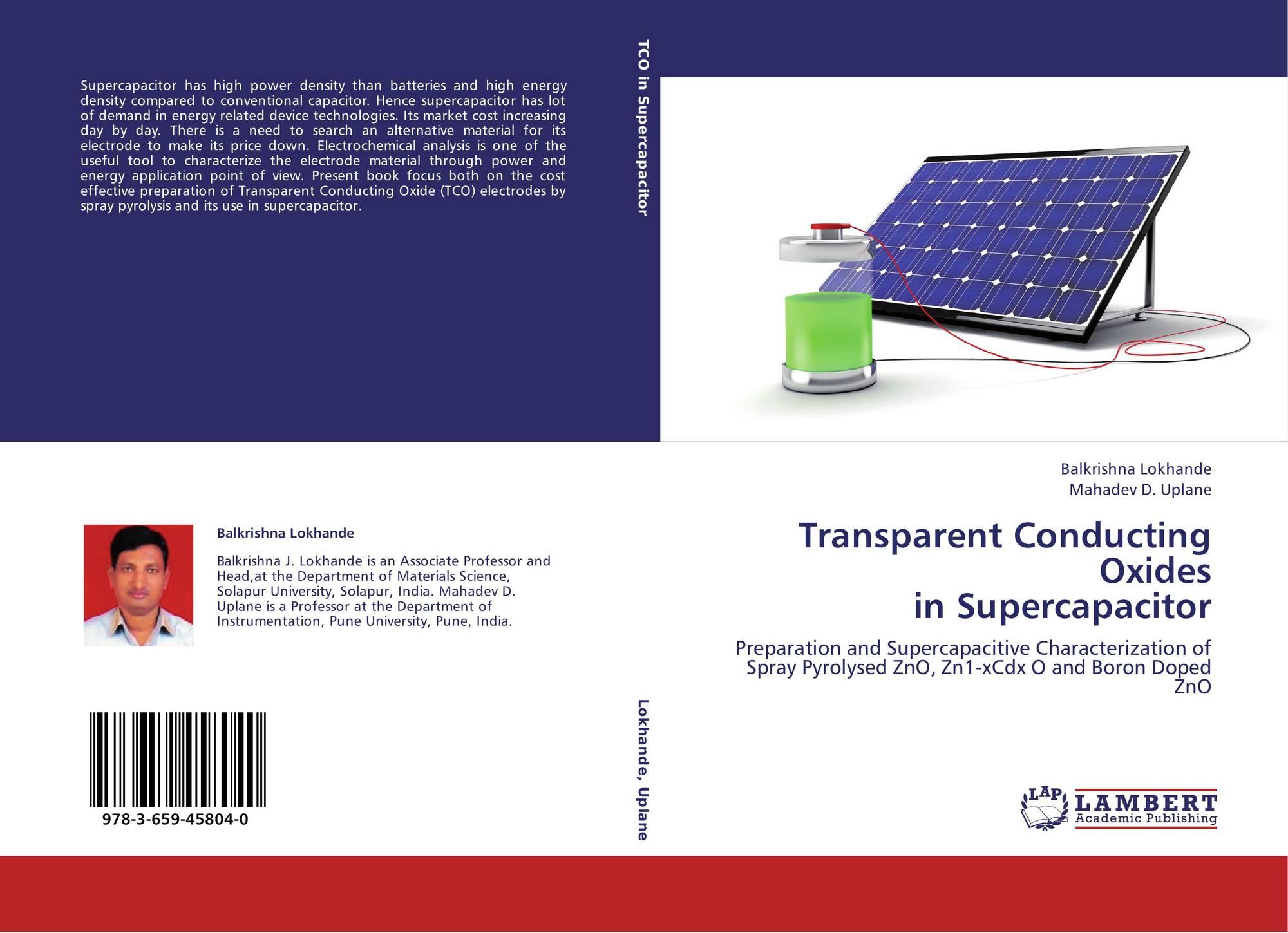 Transparent Conducting Oxides in Supercapacitor, 978-3-659
