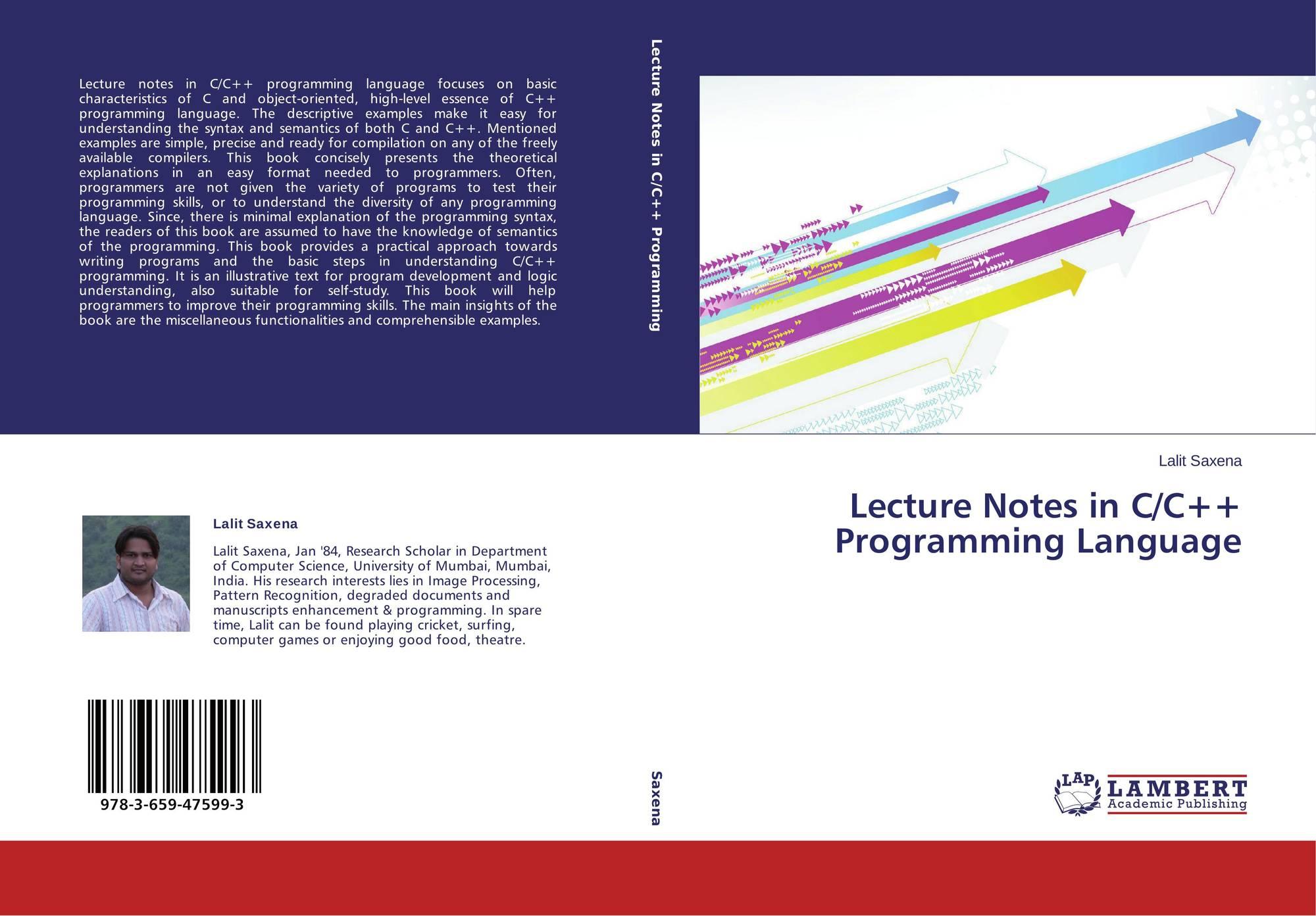 c++ programming language notes pdf
