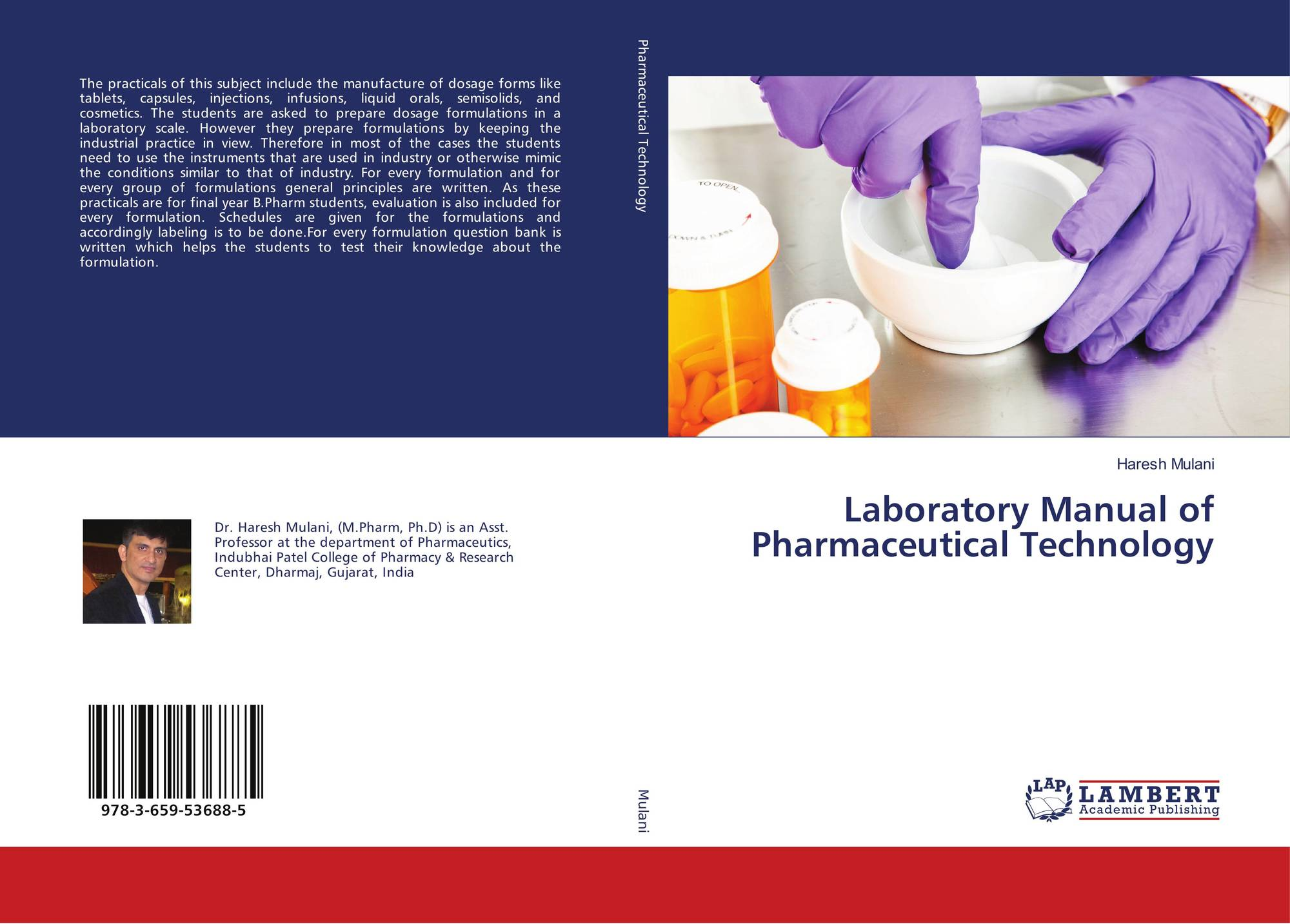 Bookcover of Laboratory Manual of Pharmaceutical Technology. 9783659536885