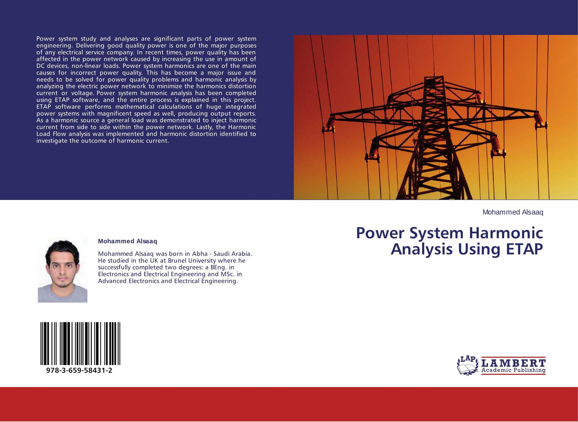Power System Harmonic Analysis Using ETAP , 978-3-659-58431-2