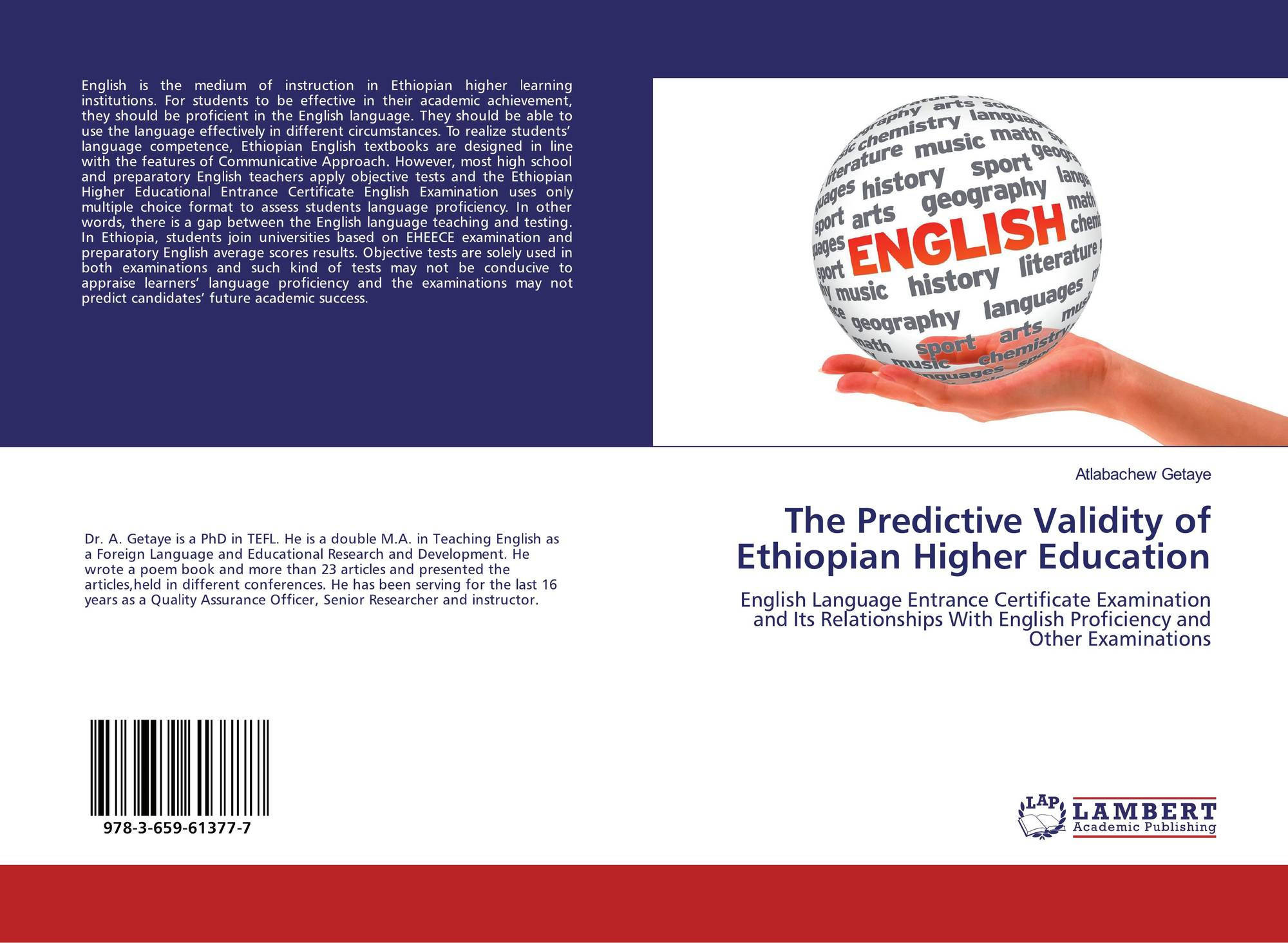 The Predictive Validity of Ethiopian Higher Education, 978-3