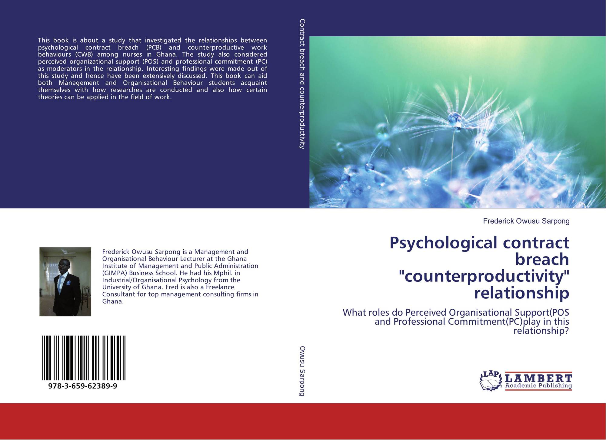 Psychological Contract Breach Counterproductivity Relationship