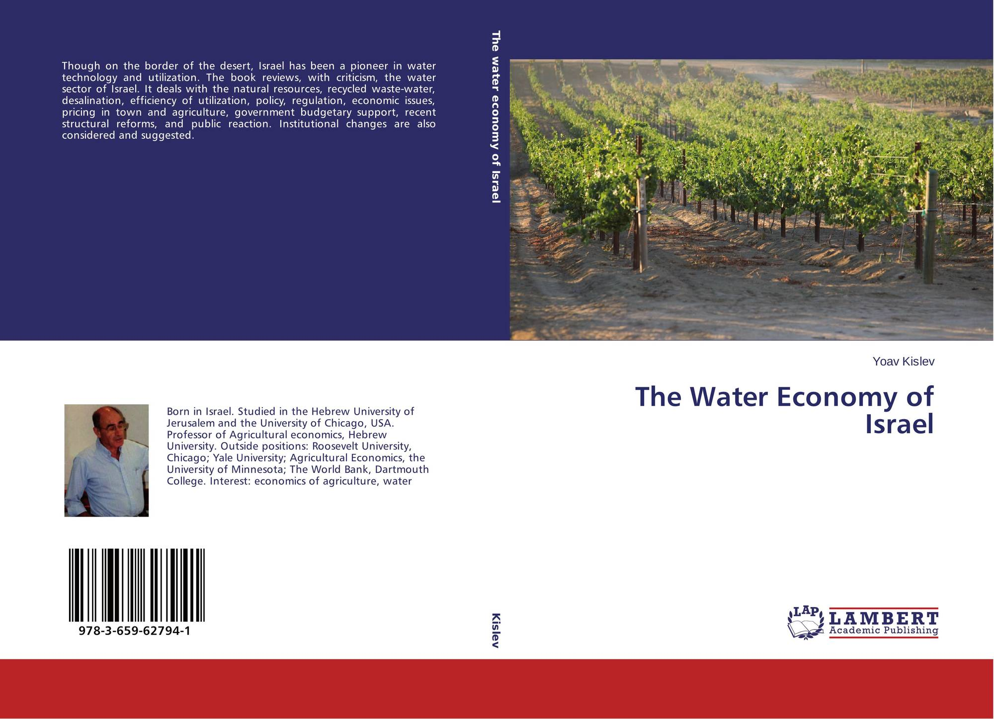 The Water Economy of Israel 978 3 659 1