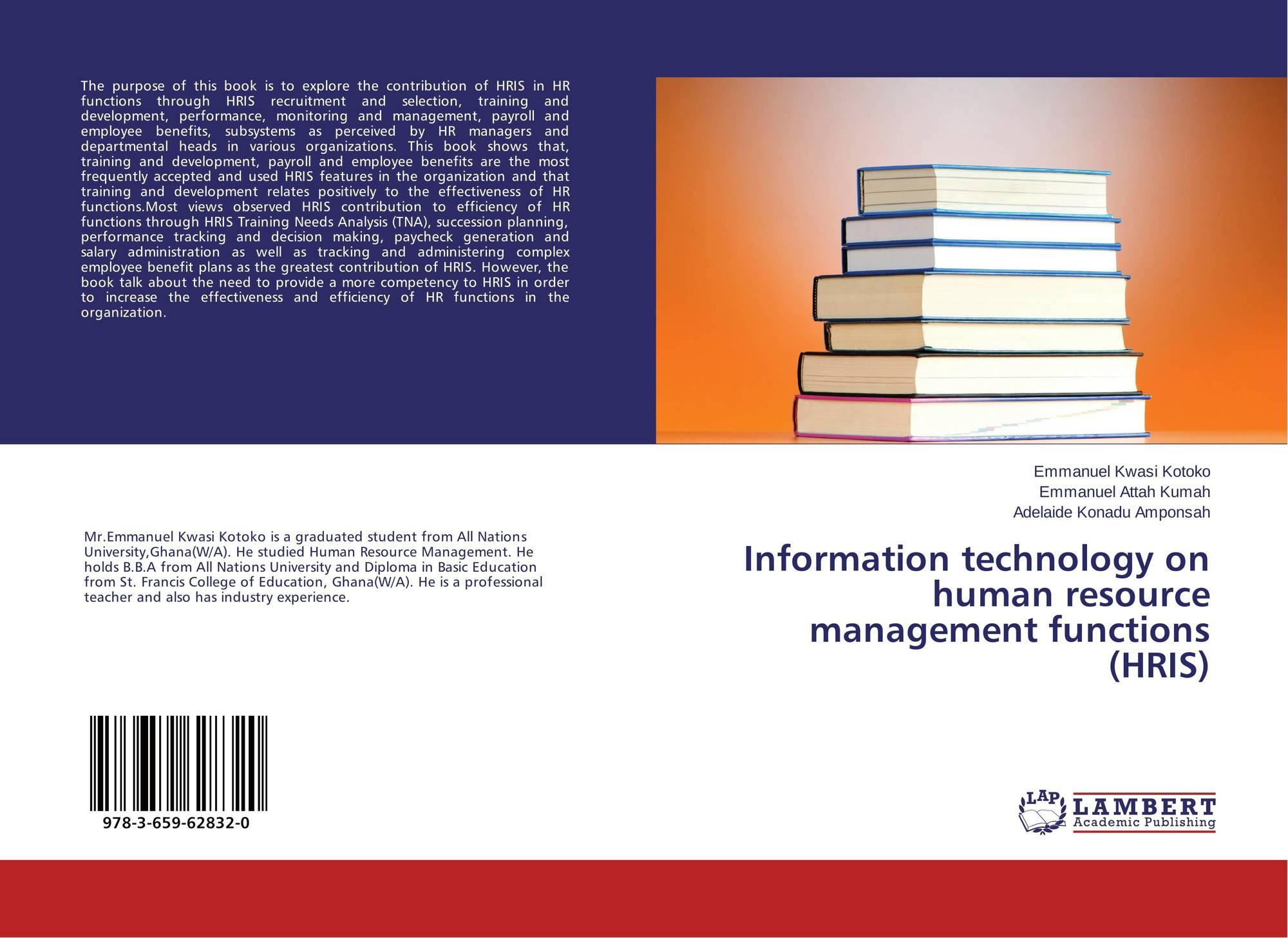 Technology Management Image: Information Technology On Human Resource Management