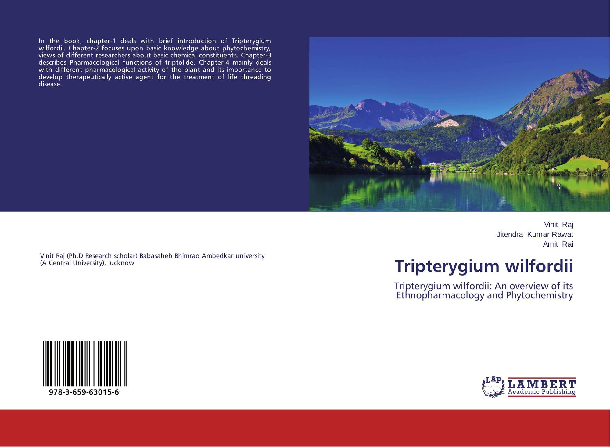 Tripterygium wilfordii, 978-3-659-63015-6, 3659630152