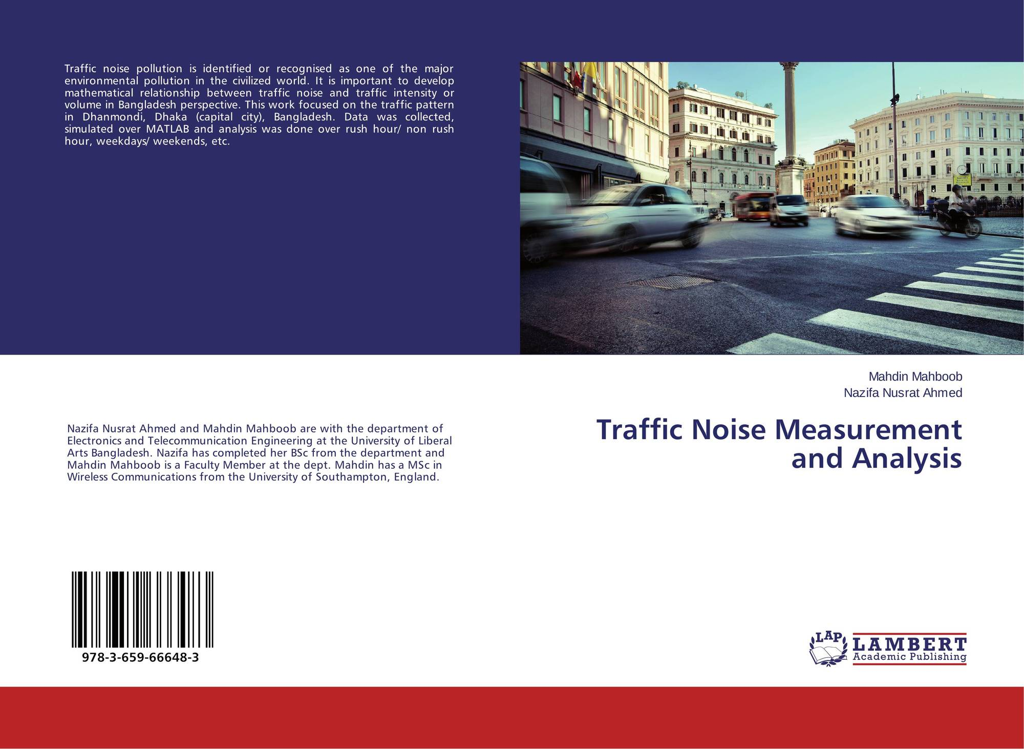 Traffic Noise Measurement and Analysis, 978-3-659-66648-3