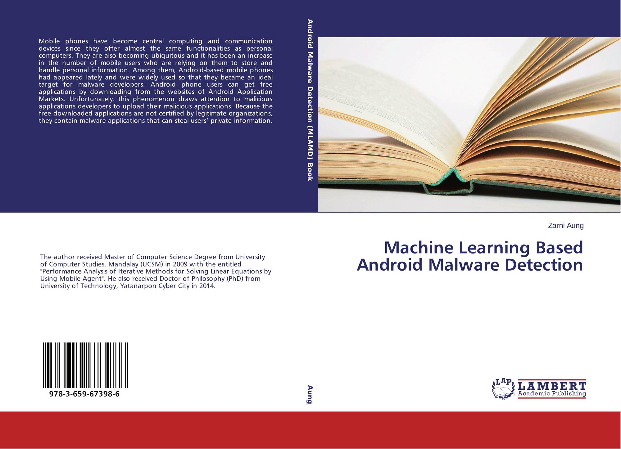Machine Learning Based Android Malware Detection, 978-3-659